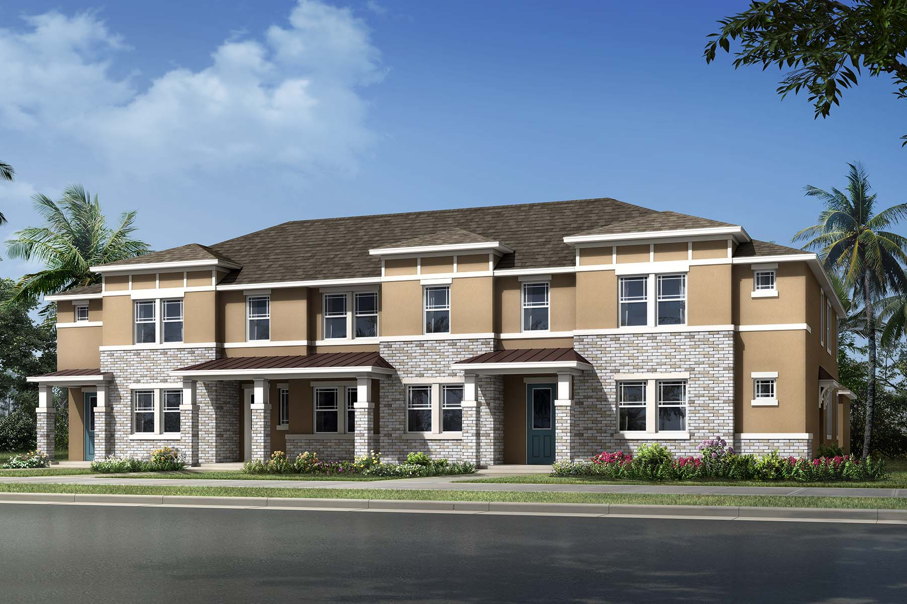 Arcadia Plan TownHomes at Hawksmoor in Winter Garden Florida by Mattamy Homes