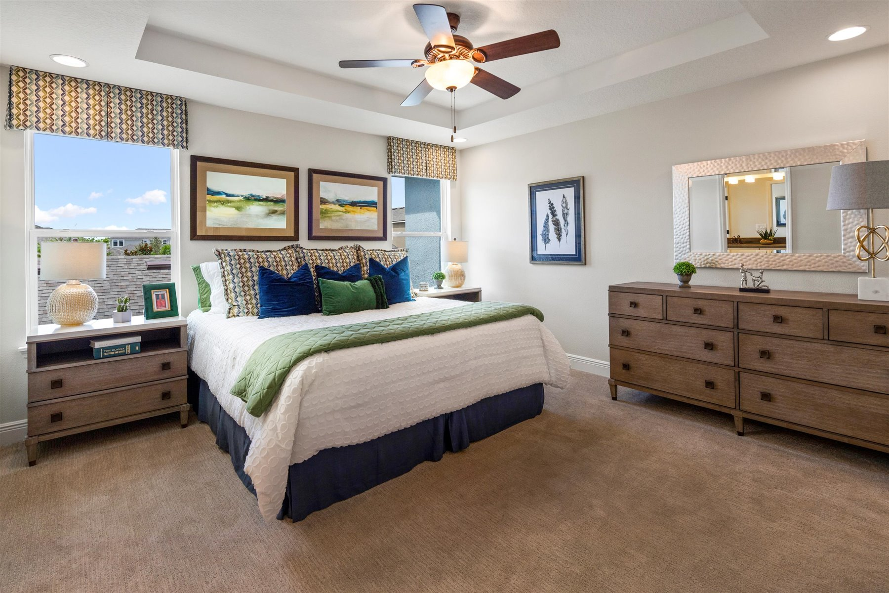 Arcadia Plan Bedroom at Hawksmoor in Winter Garden Florida by Mattamy Homes