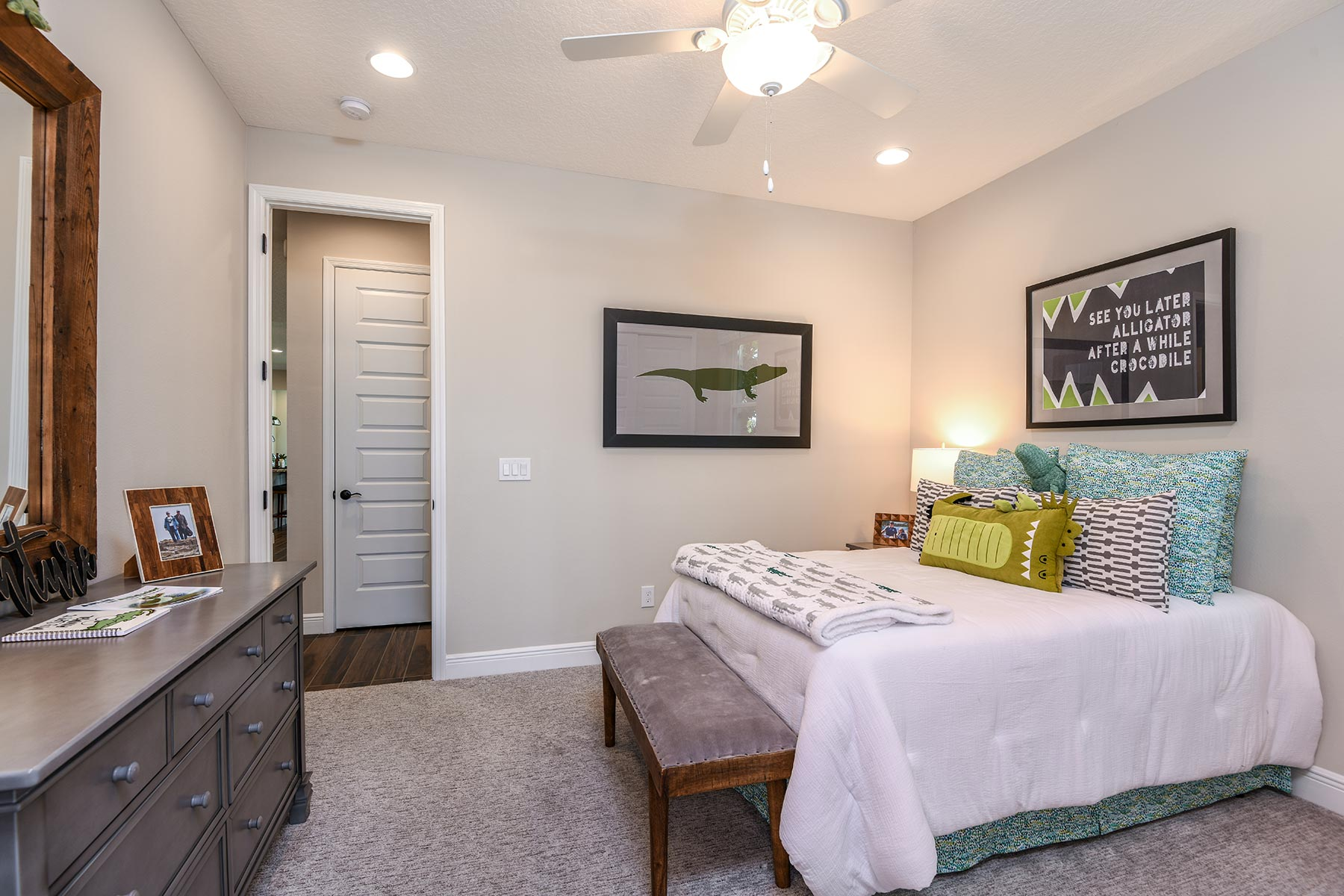 Kenwood II Plan Bedroom at Meridian Parks in Orlando Florida by Mattamy Homes