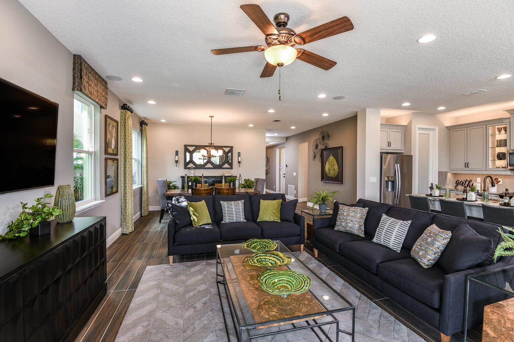 Kenwood II Plan Greatroom at Meridian Parks in Orlando Florida by Mattamy Homes