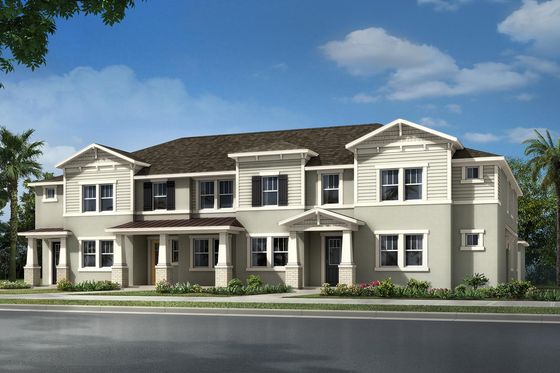 Parkwyn II Plan TownHomes at Hawksmoor in Winter Garden Florida by Mattamy Homes