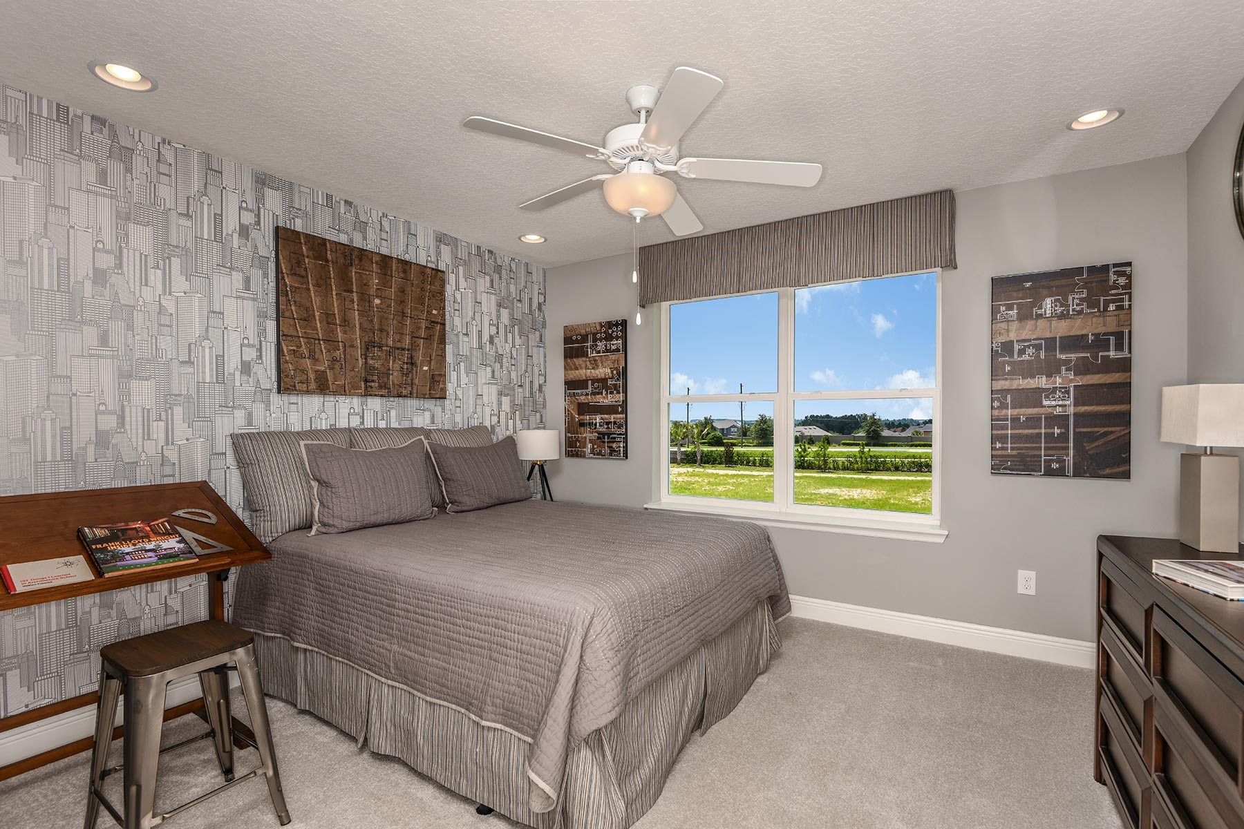 Riverside II Plan Bedroom at Meridian Parks in Orlando Florida by Mattamy Homes