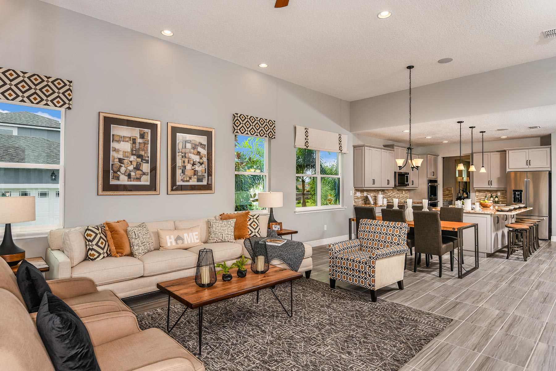 Riverside II Plan Greatroom at Meridian Parks in Orlando Florida by Mattamy Homes
