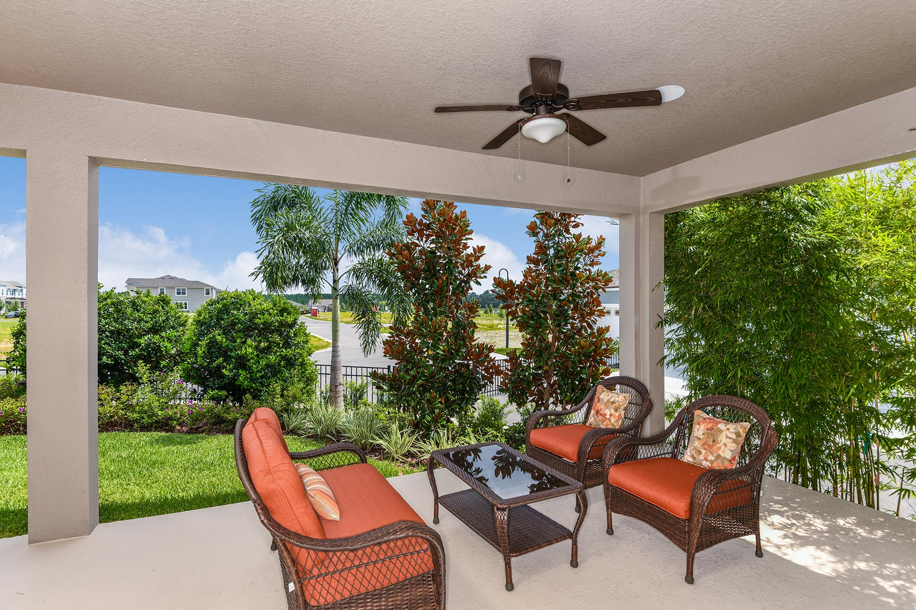 Riverside II Plan Patio at Meridian Parks in Orlando Florida by Mattamy Homes