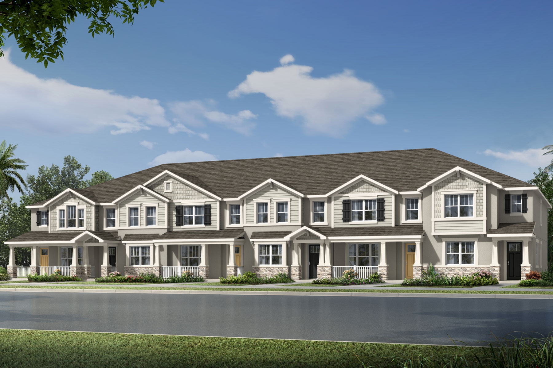 Amber Plan TownHomes at Legado in Windermere Florida by Mattamy Homes