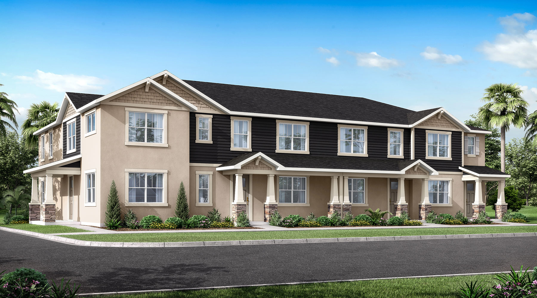 Laurel II Plan TownHomes at Meridian Parks in Orlando Florida by Mattamy Homes