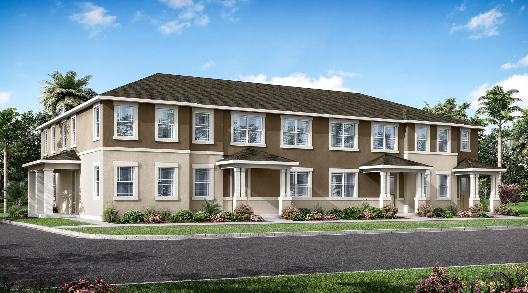 Aurora Plan TownHomes at Meridian Parks in Orlando Florida by Mattamy Homes