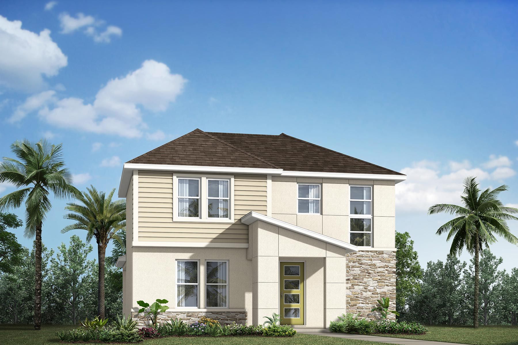 Belmont Plan Elevation Front at Meridian Parks in Orlando Florida by Mattamy Homes