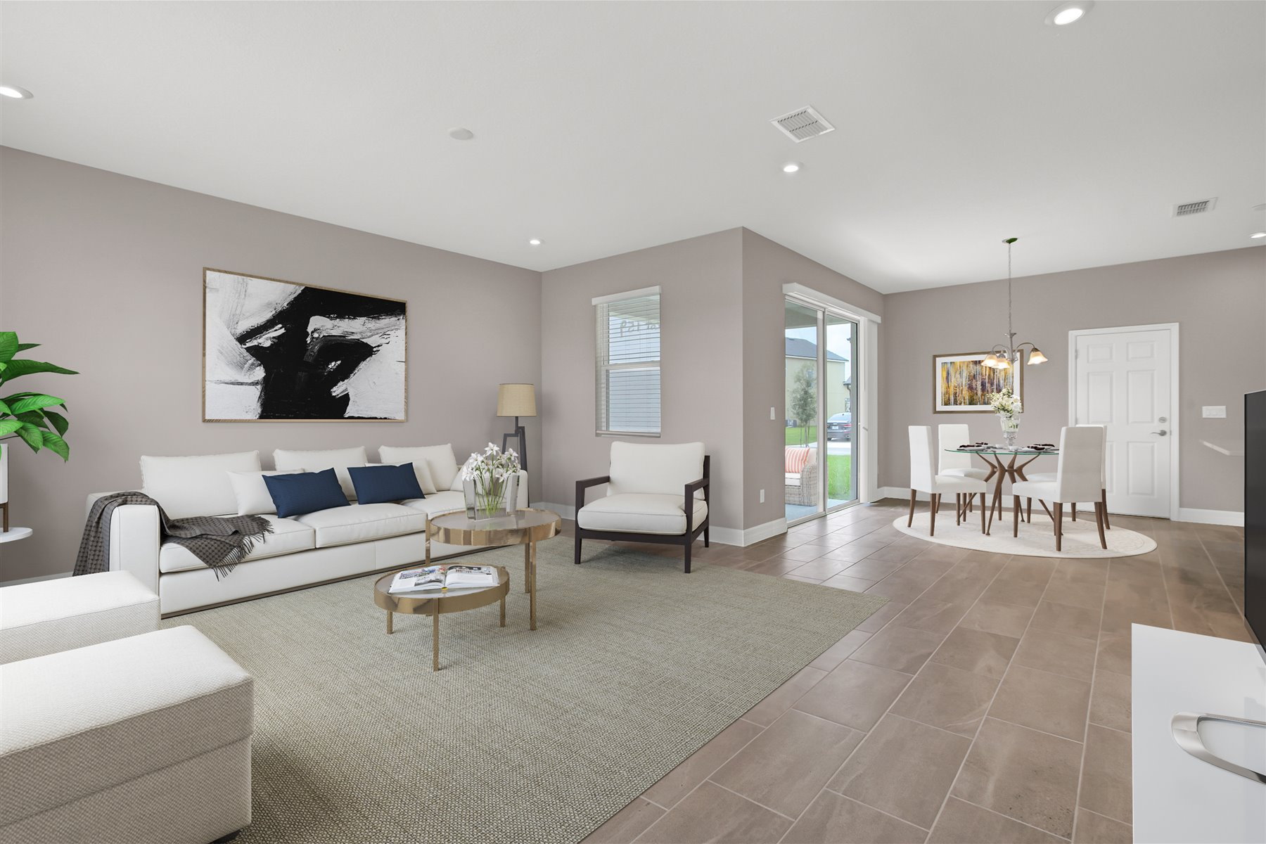 Belmont Plan Greatroom at Tohoqua in Kissimmee Florida by Mattamy Homes