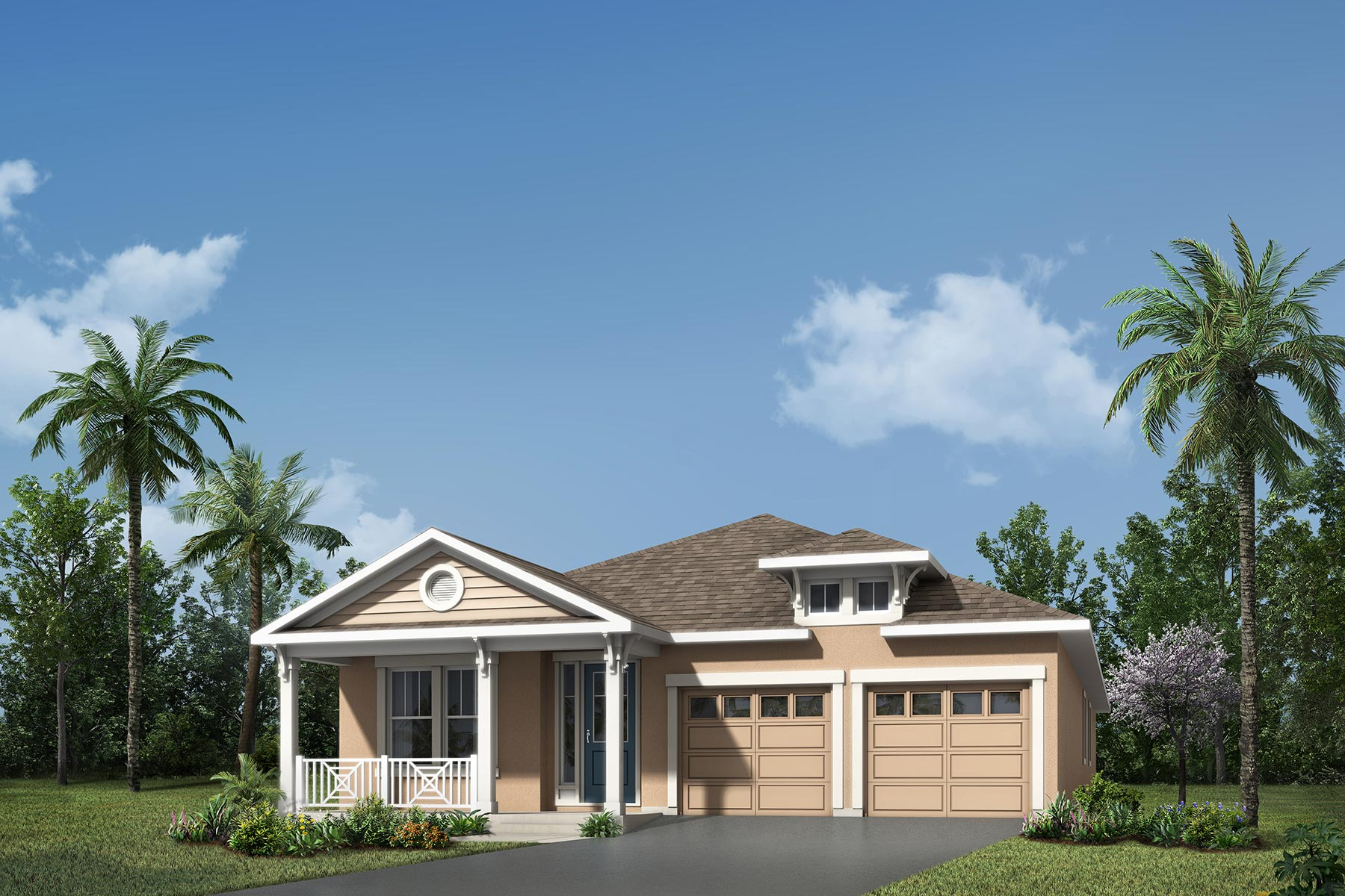 Camden Plan Elevation Front at Meridian Parks in Orlando Florida by Mattamy Homes