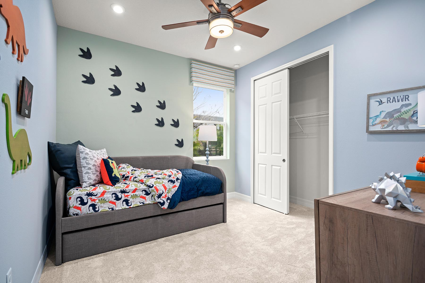 Camden Plan Bedroom at Meridian Parks in Orlando Florida by Mattamy Homes