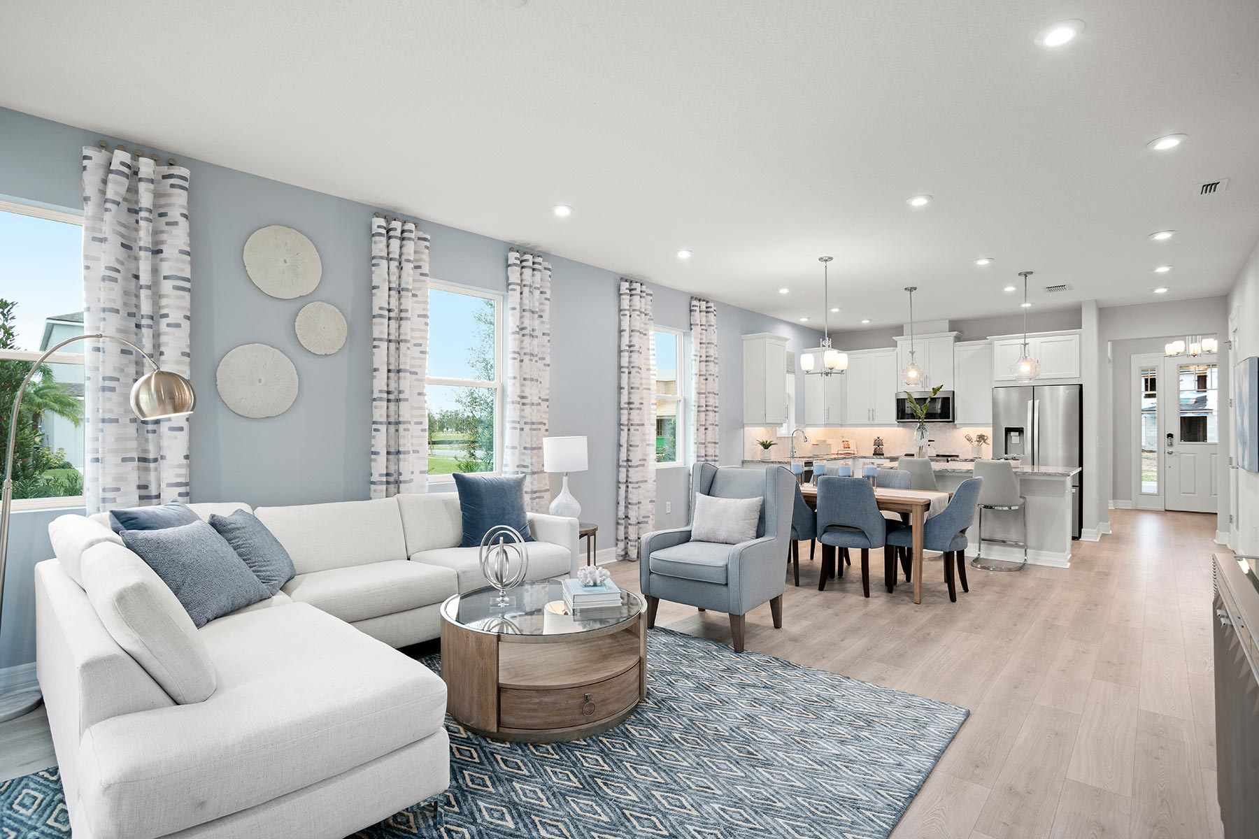 Camden Plan Greatroom at Meridian Parks in Orlando Florida by Mattamy Homes