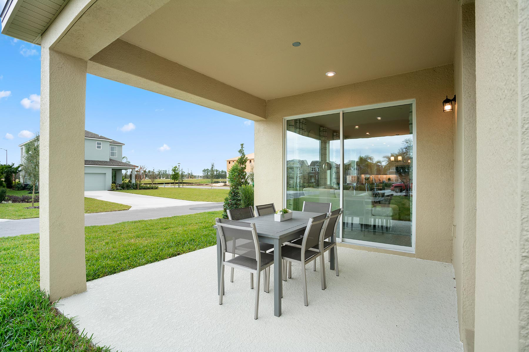 Camden Plan Patio at Meridian Parks in Orlando Florida by Mattamy Homes