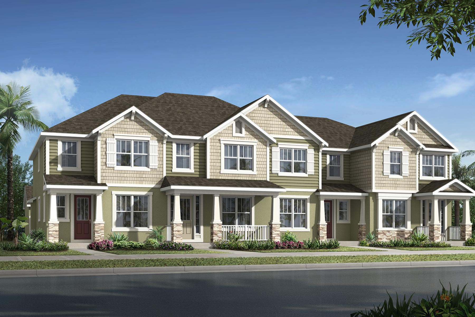 Devonshire II Plan TownHomes at Meridian Parks in Orlando Florida by Mattamy Homes