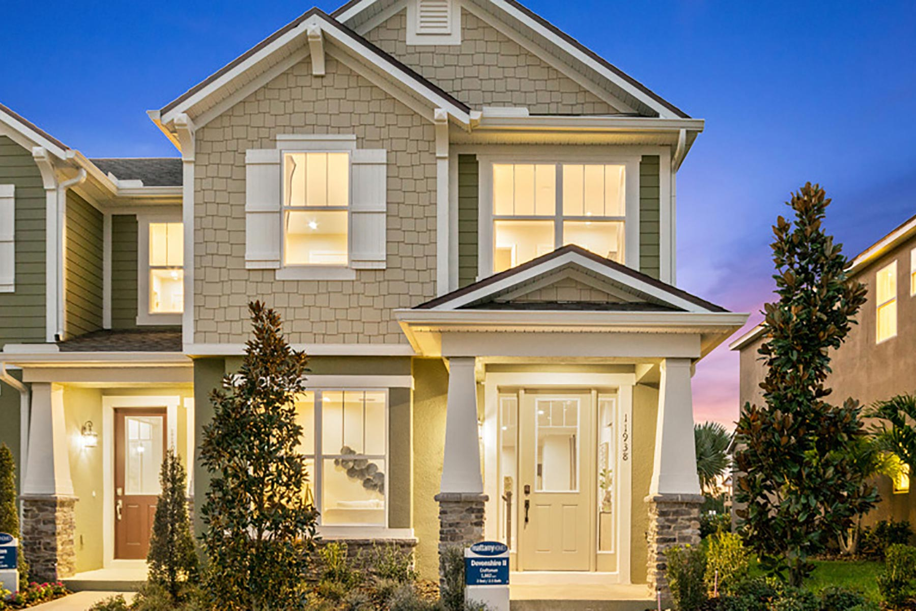 Devonshire II Plan Elevation Front at Meridian Parks in Orlando Florida by Mattamy Homes