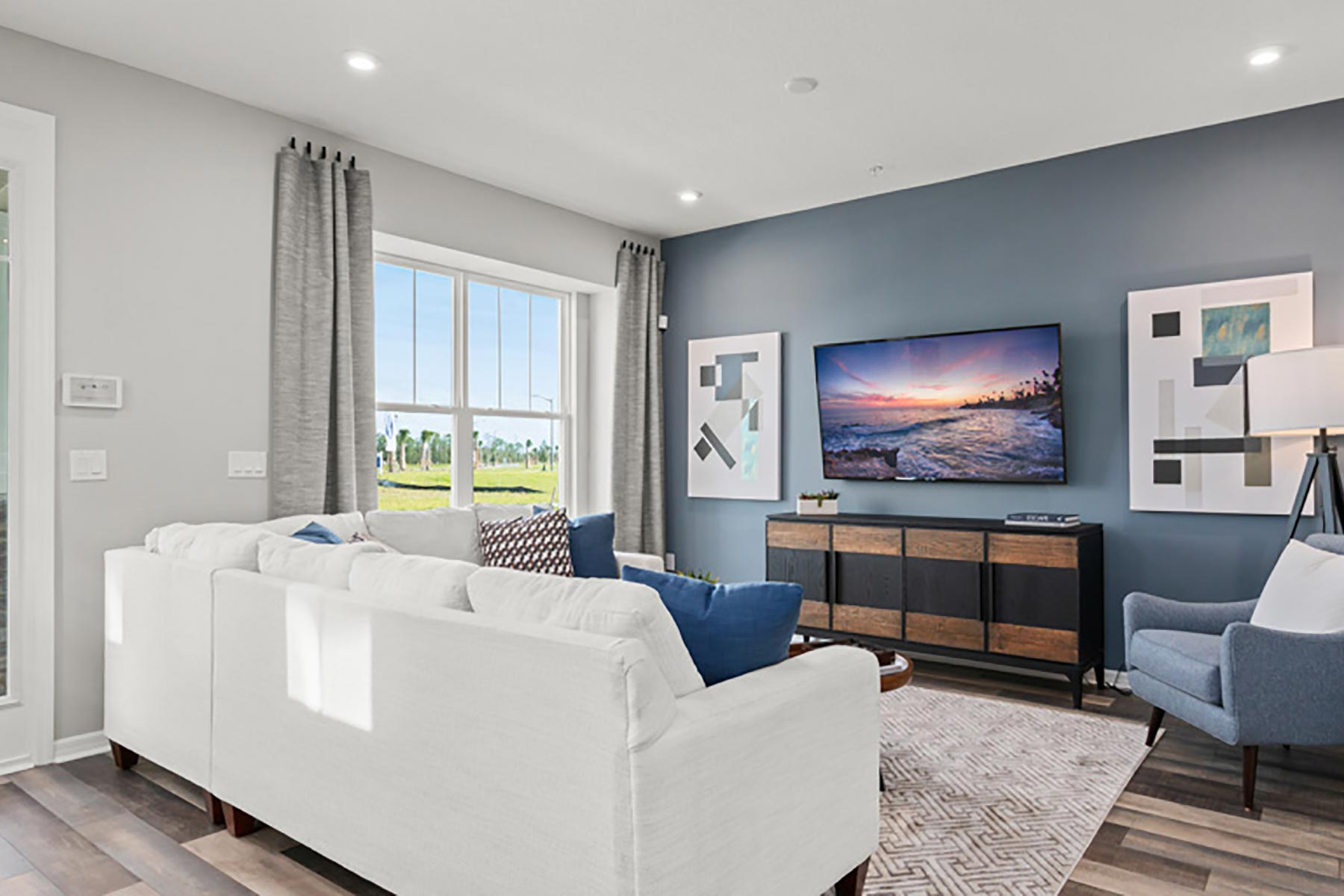 Devonshire II Plan Greatroom at Meridian Parks in Orlando Florida by Mattamy Homes