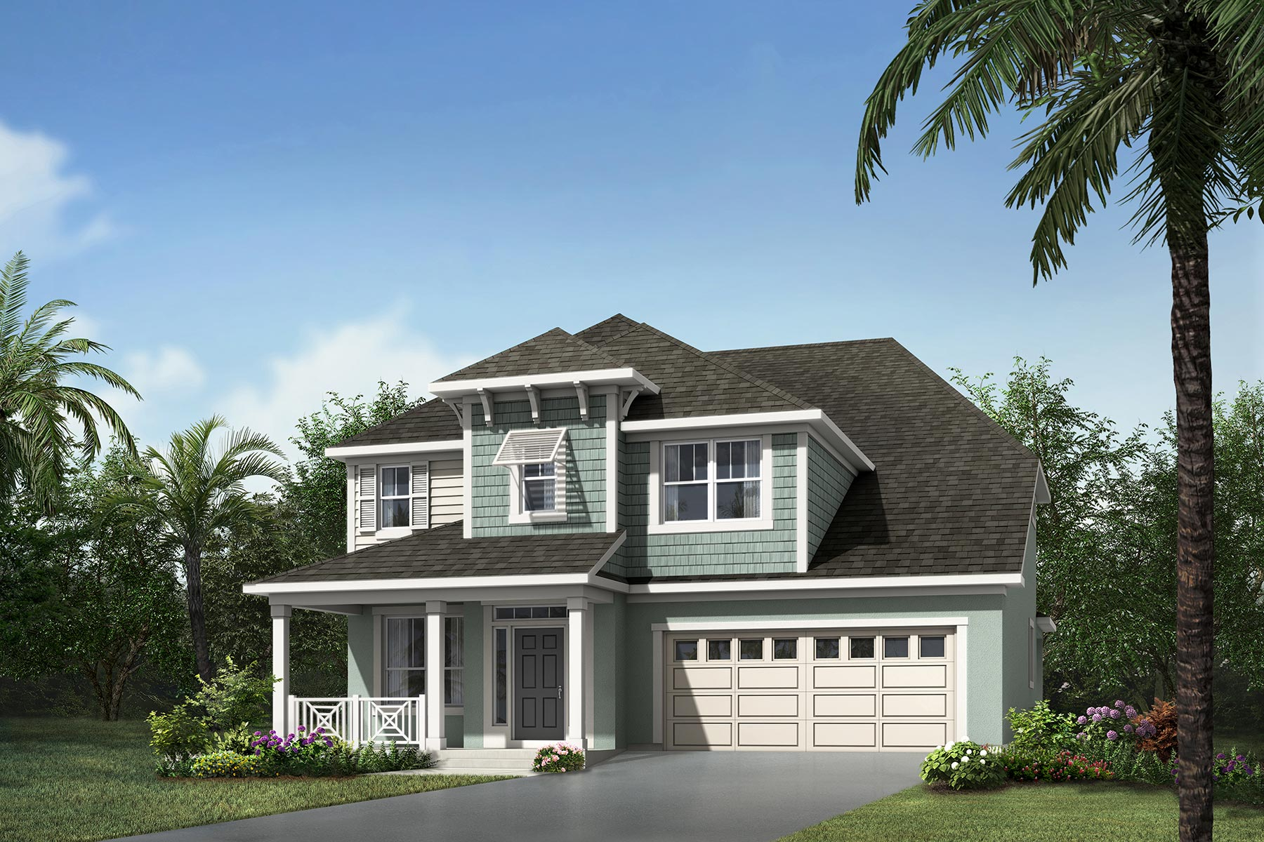 Jasmine Plan Elevation Front at Meridian Parks in Orlando Florida by Mattamy Homes