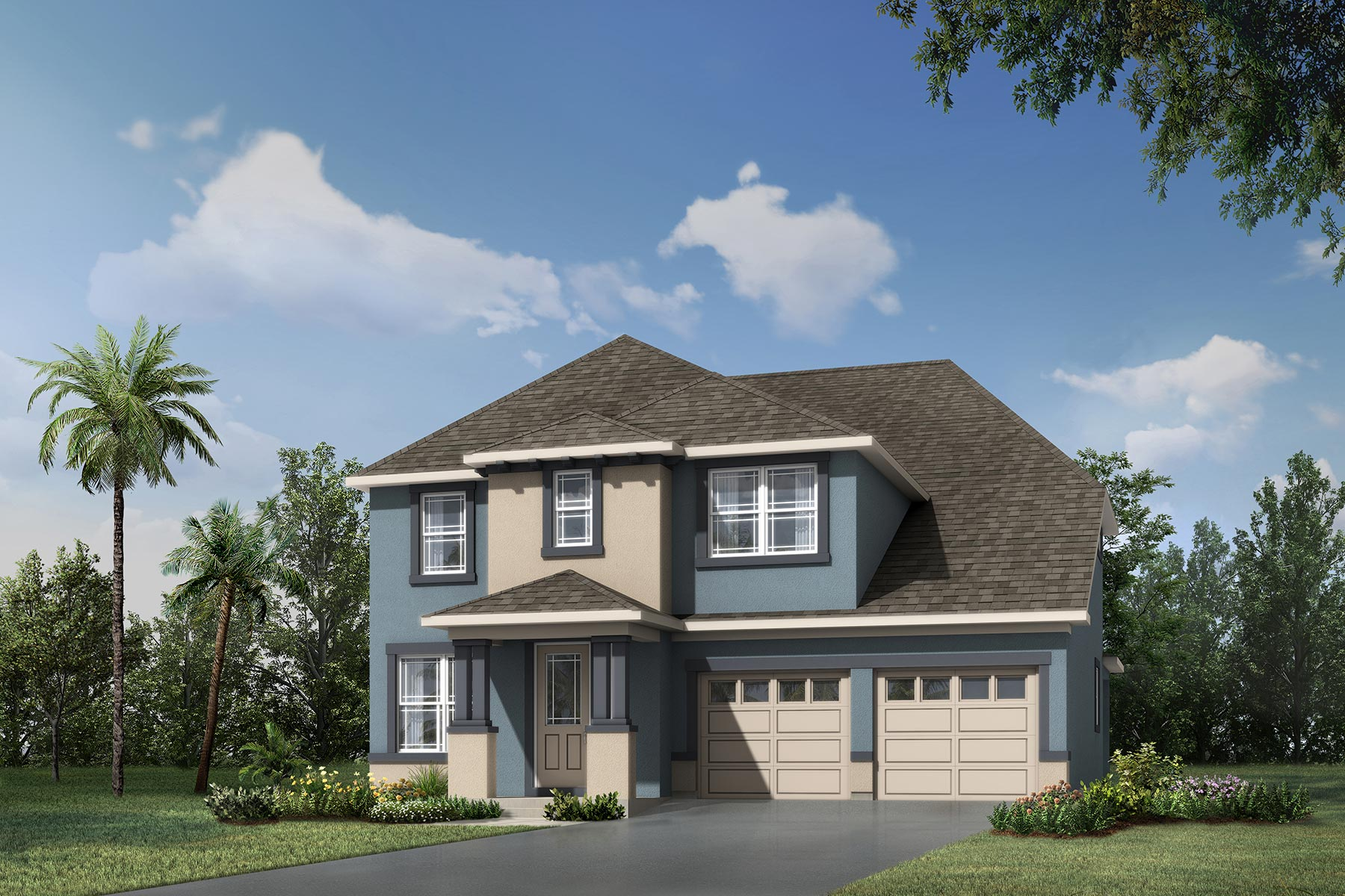 Laurel II Plan Elevation Front at Meridian Parks in Orlando Florida by Mattamy Homes