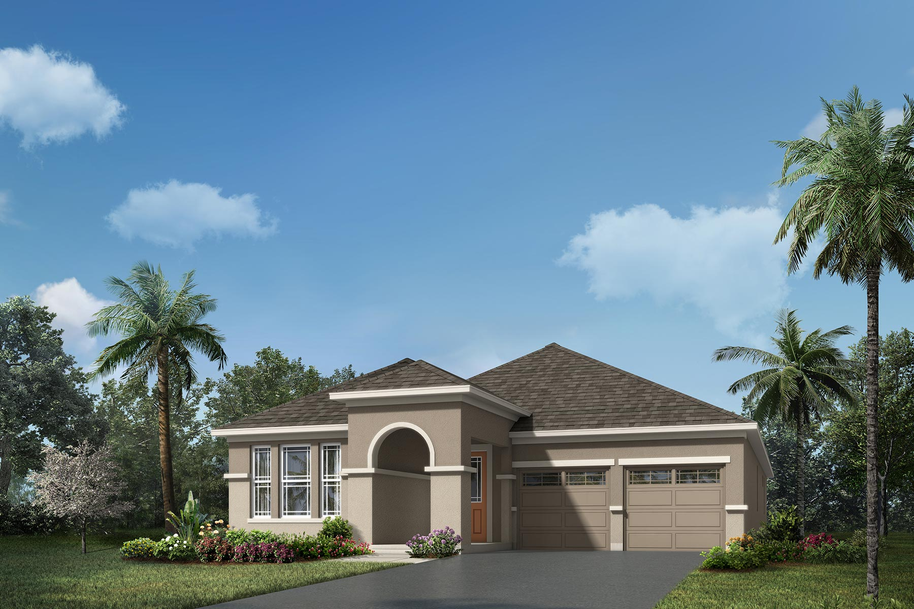 Kenwood II Plan Elevation Front at Meridian Parks in Orlando Florida by Mattamy Homes