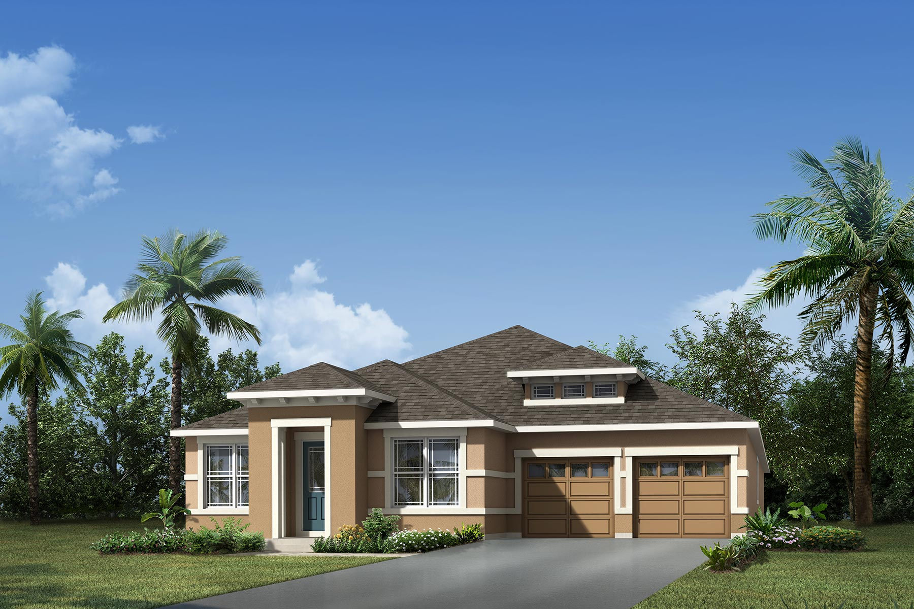 Laurel Plan Elevation Front at Meridian Parks in Orlando Florida by Mattamy Homes