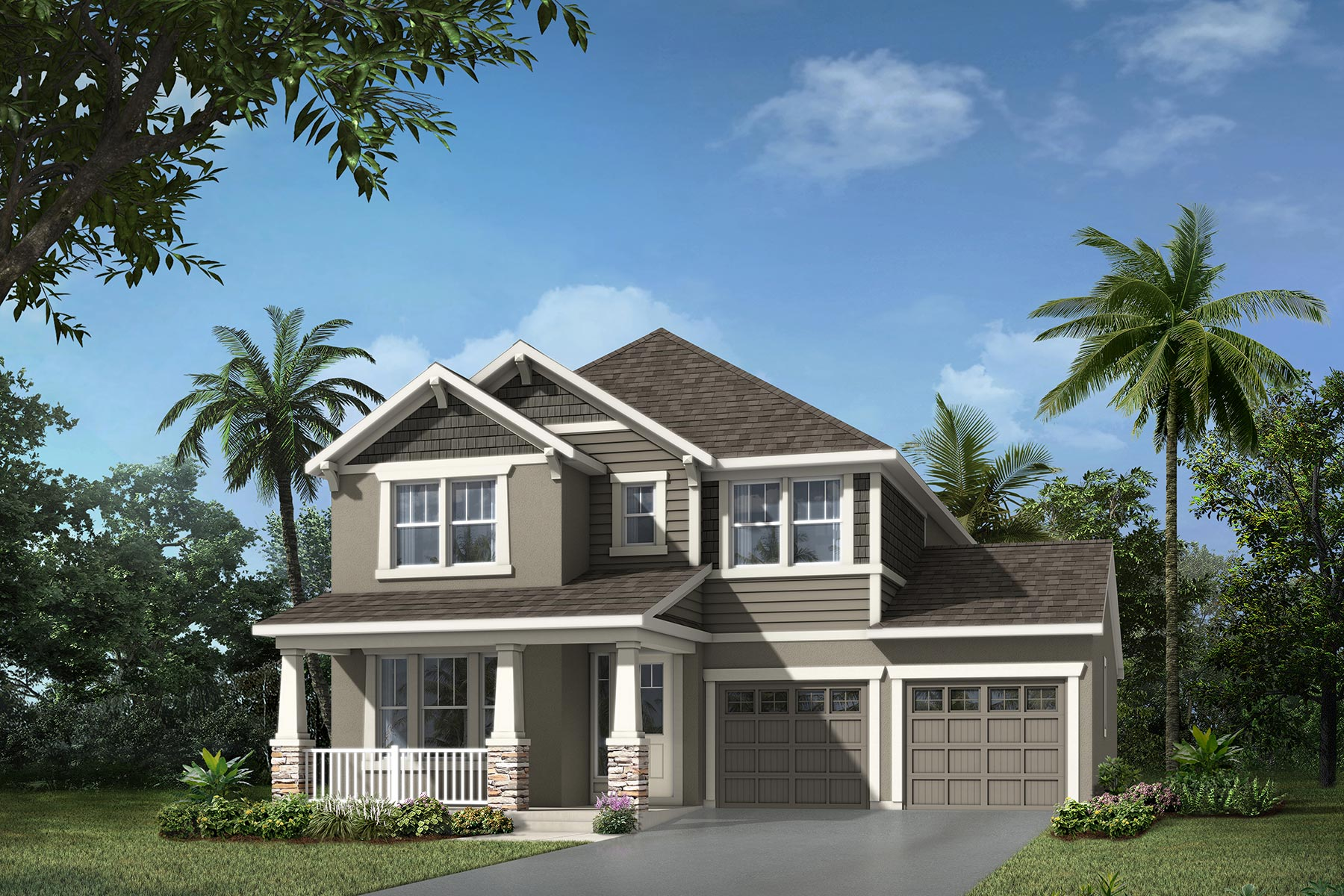 Newport Plan Elevation Front at Meridian Parks in Orlando Florida by Mattamy Homes
