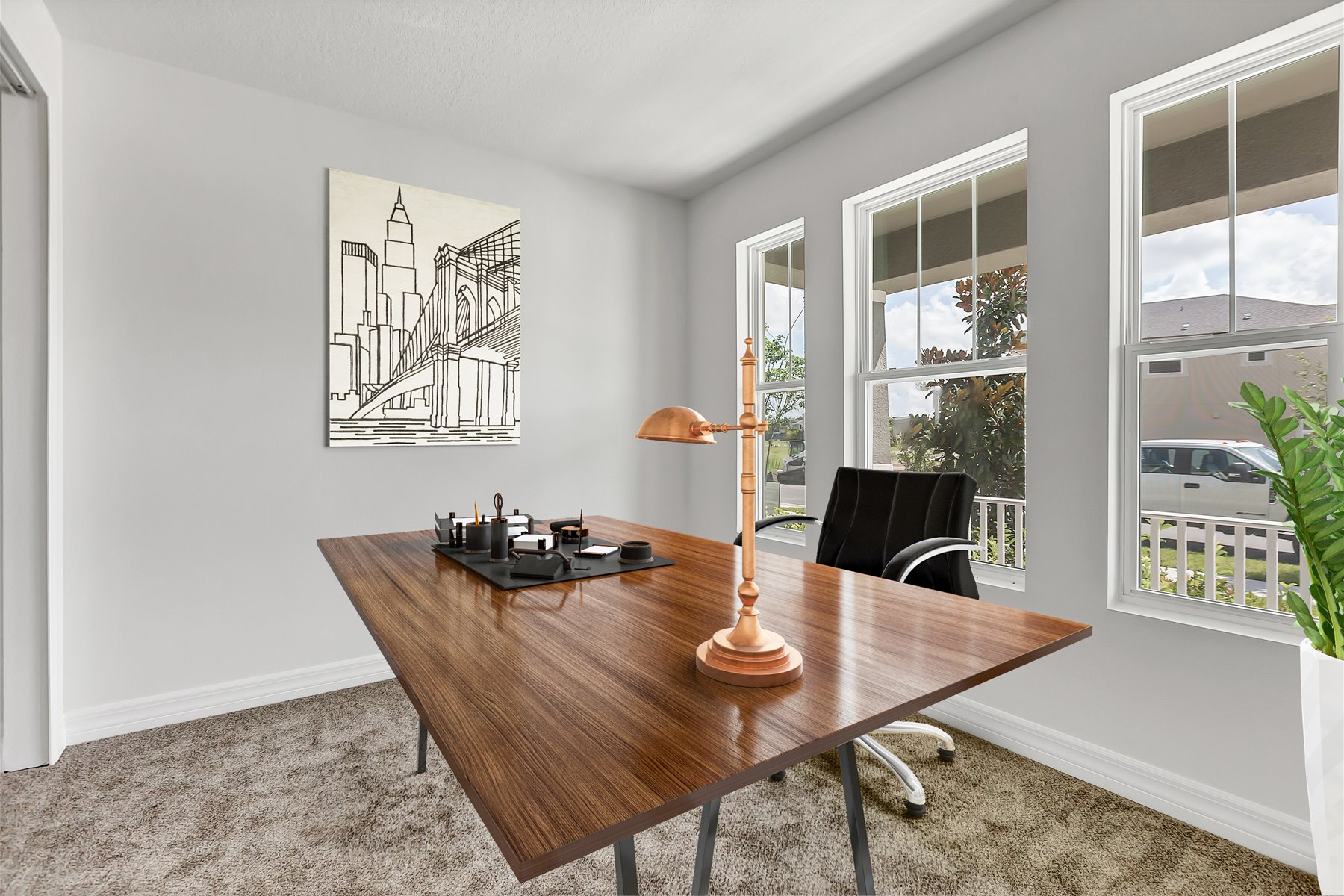 Newport Plan Study Room at Meridian Parks in Orlando Florida by Mattamy Homes