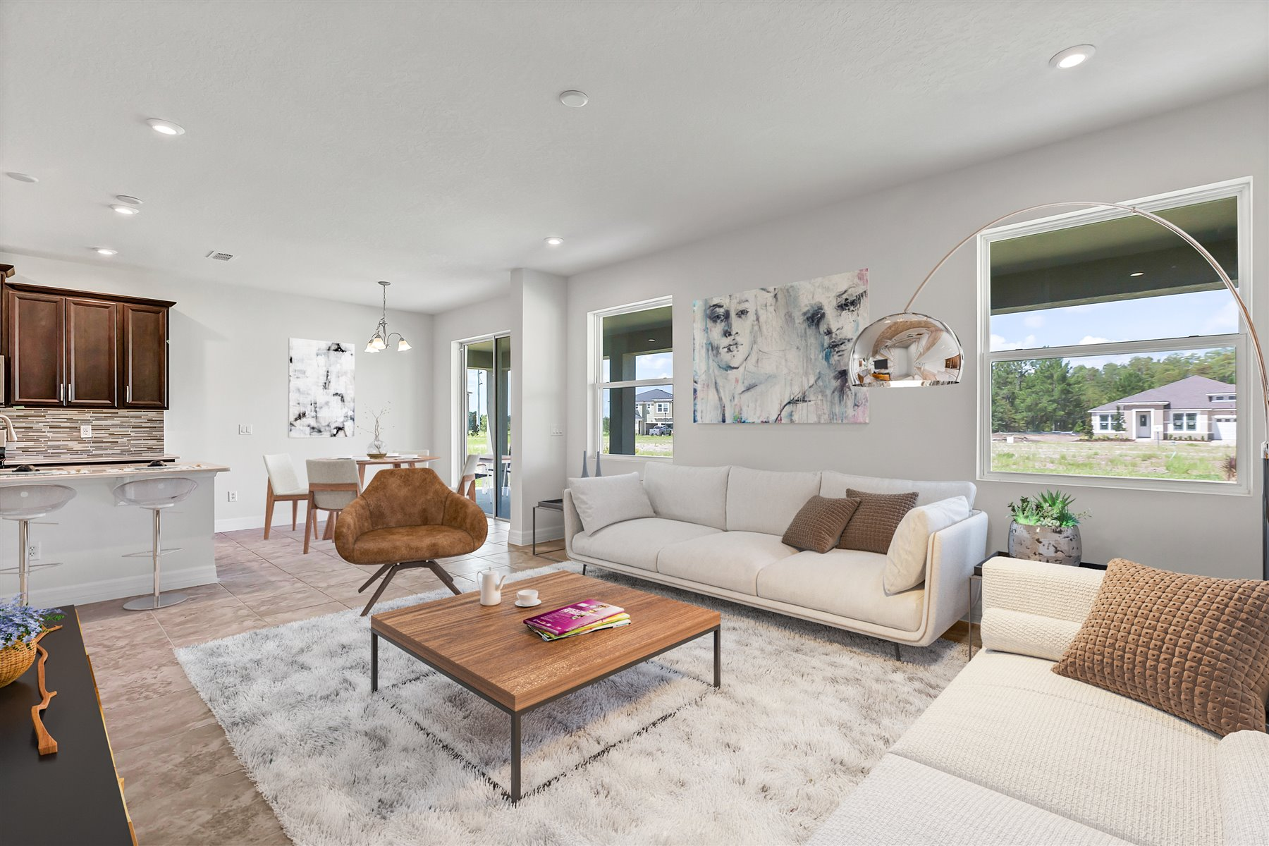 Newport Plan Greatroom at Meridian Parks in Orlando Florida by Mattamy Homes