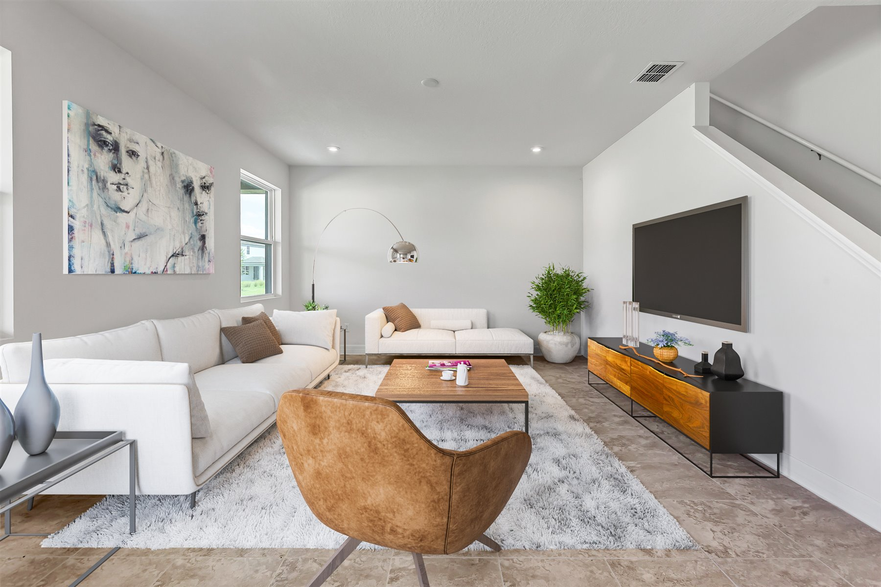 Newport Plan Media Room at Meridian Parks in Orlando Florida by Mattamy Homes