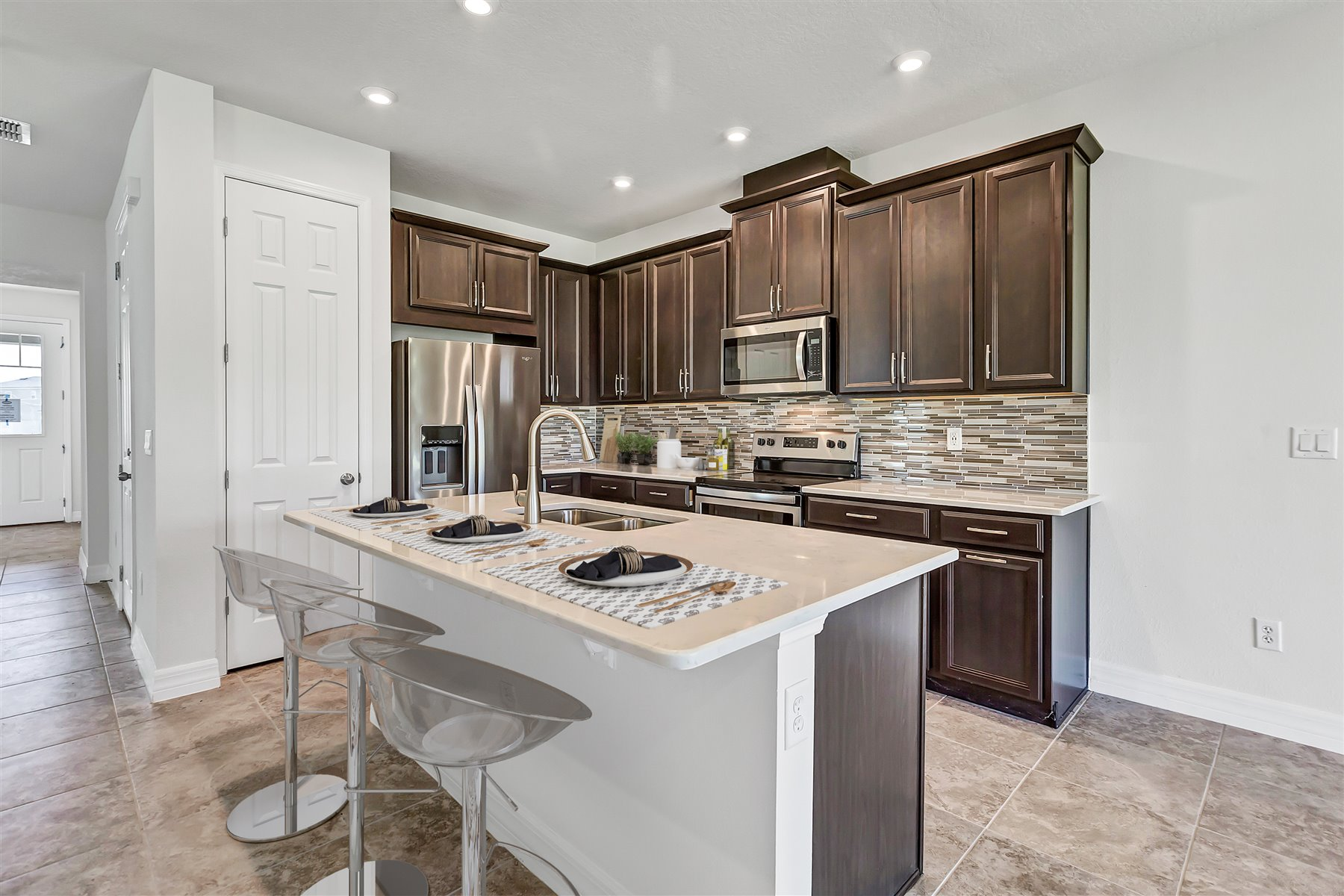 Newport Plan Kitchen at Meridian Parks in Orlando Florida by Mattamy Homes