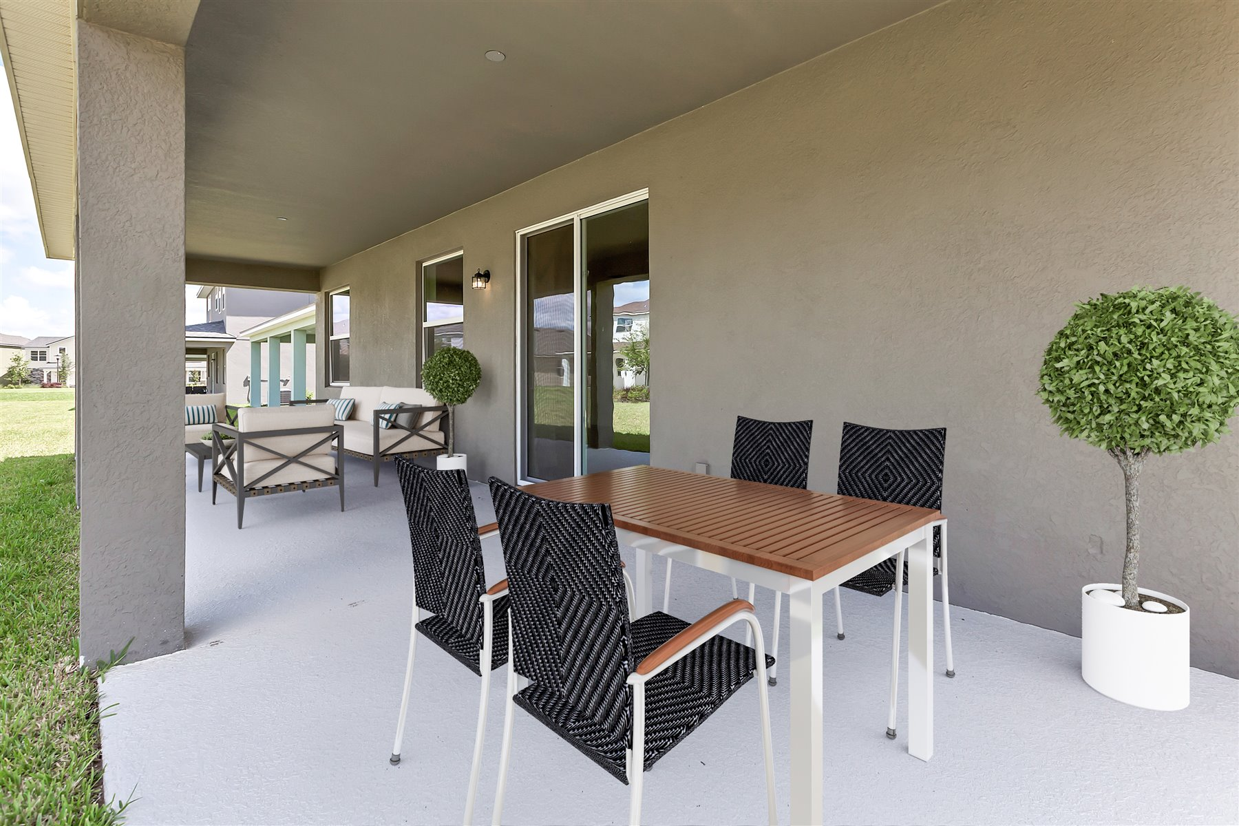 Newport Plan Patio at Meridian Parks in Orlando Florida by Mattamy Homes