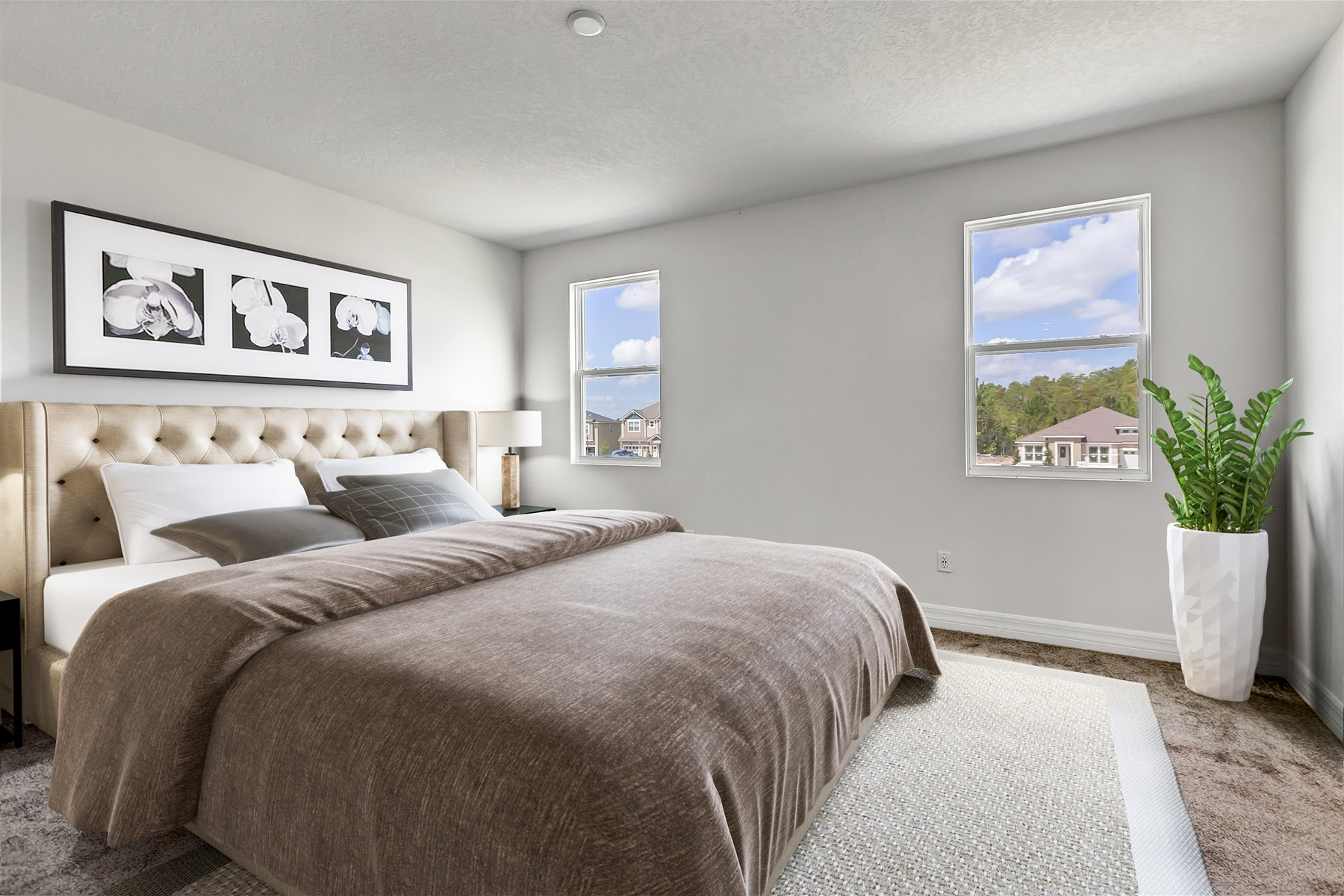Newport Plan Bedroom at Meridian Parks in Orlando Florida by Mattamy Homes