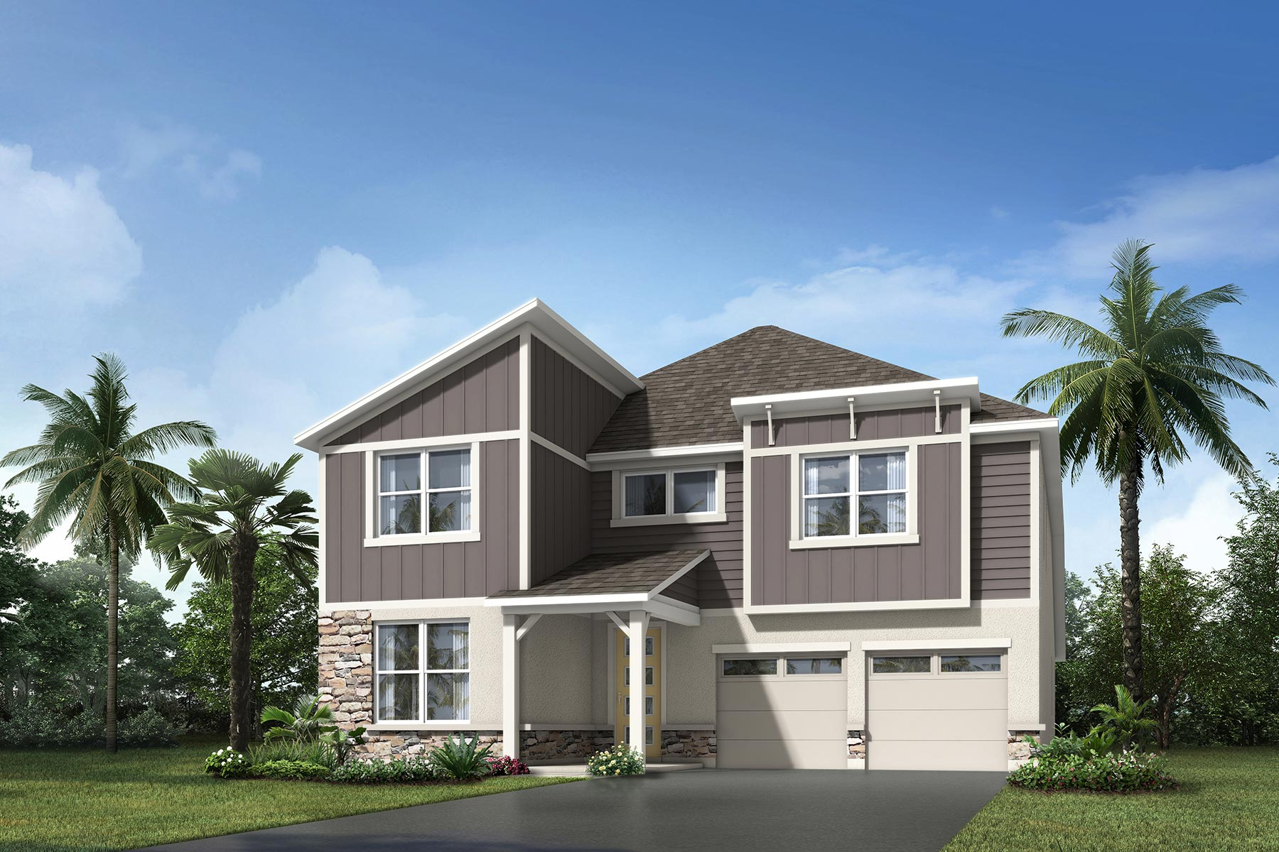 Riverside II Plan Elevation Front at Meridian Parks in Orlando Florida by Mattamy Homes