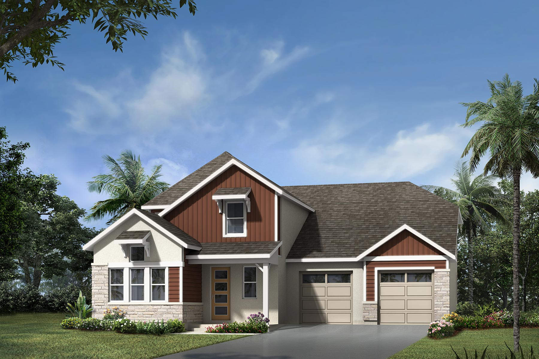 Watermark II Plan Elevation Front at Meridian Parks in Orlando Florida by Mattamy Homes