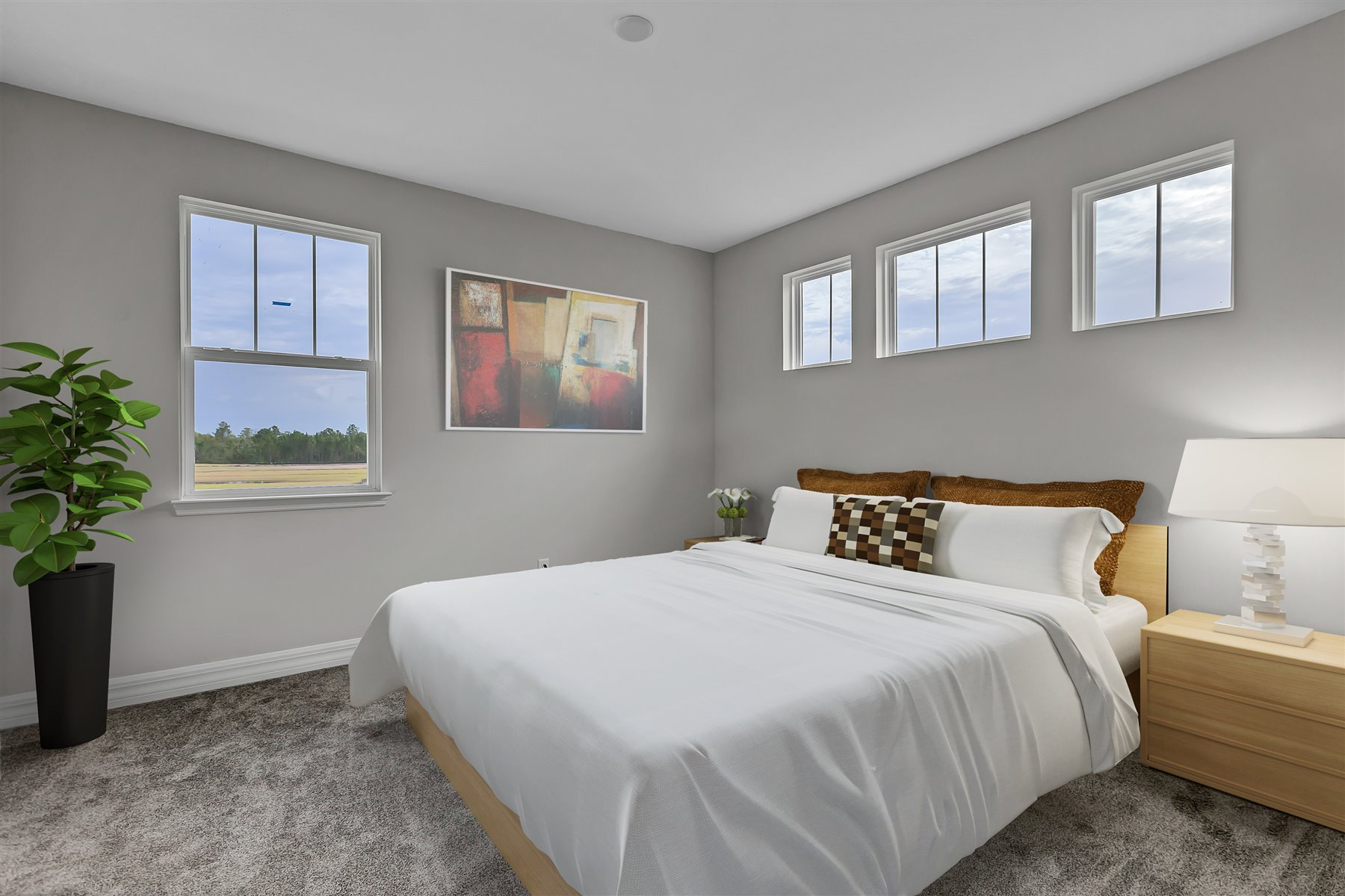 Watermark II Plan Bedroom at Meridian Parks in Orlando Florida by Mattamy Homes