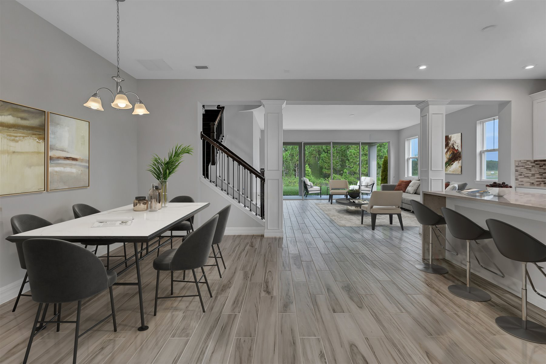 Watermark II Plan Dining at Meridian Parks in Orlando Florida by Mattamy Homes