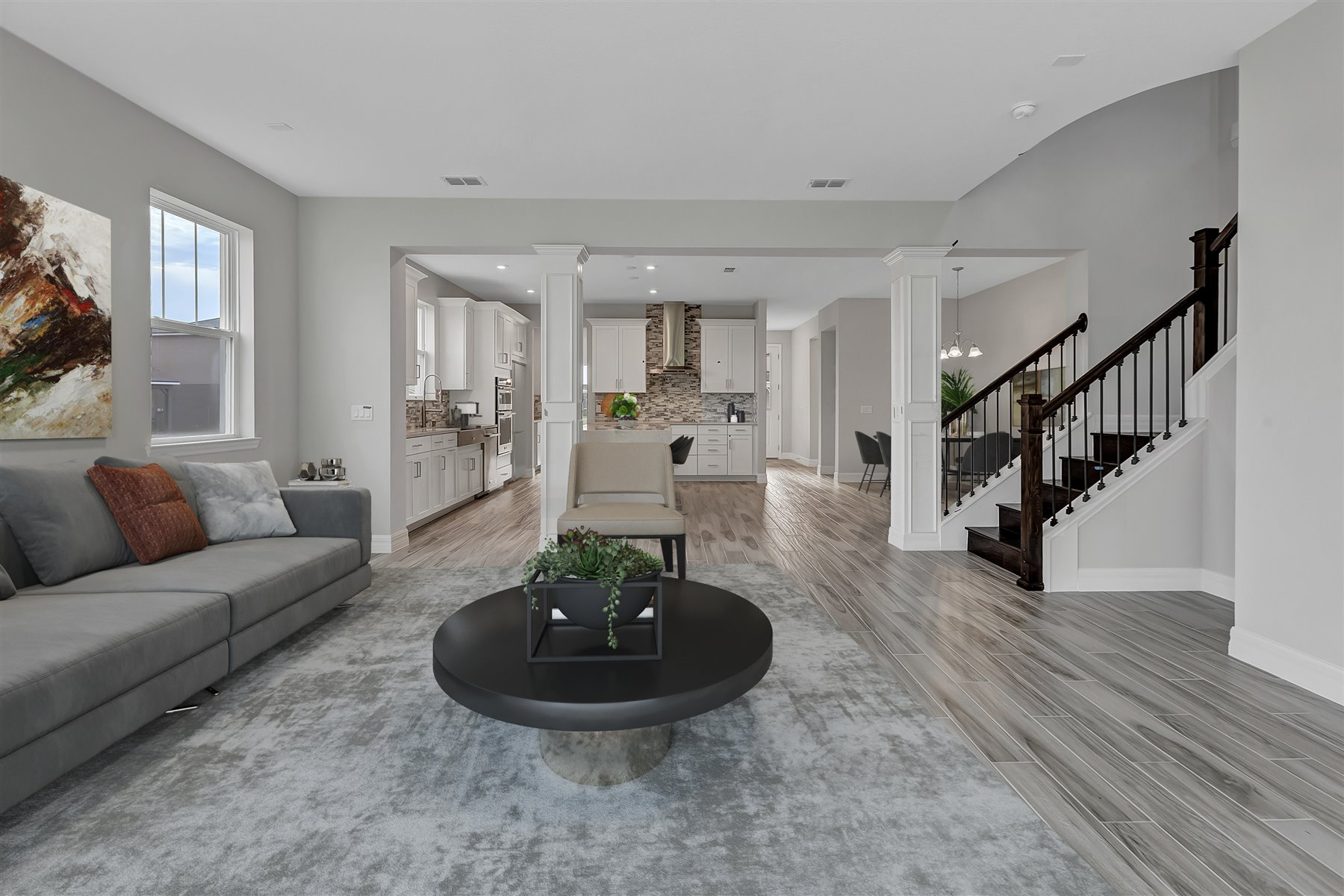 Watermark II Plan Greatroom at Meridian Parks in Orlando Florida by Mattamy Homes