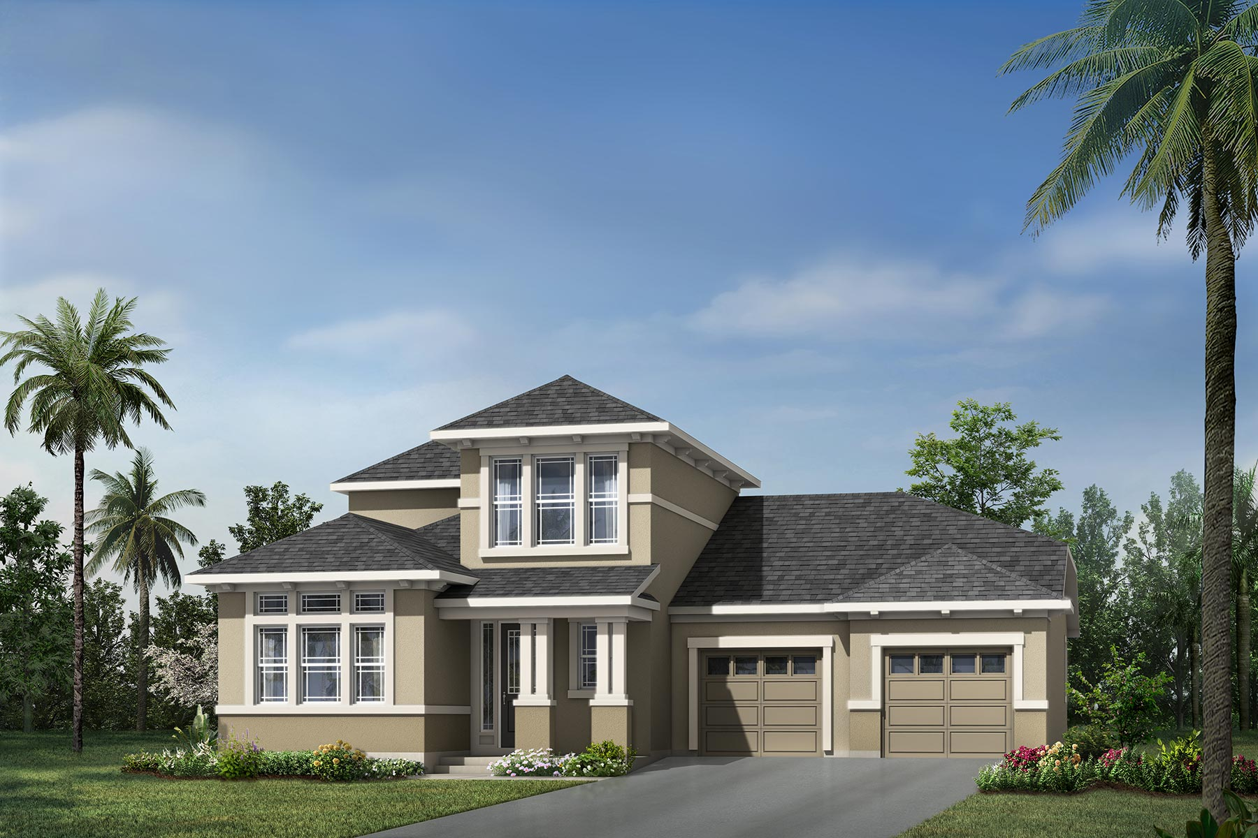 Watermark Plan Elevation Front at Meridian Parks in Orlando Florida by Mattamy Homes