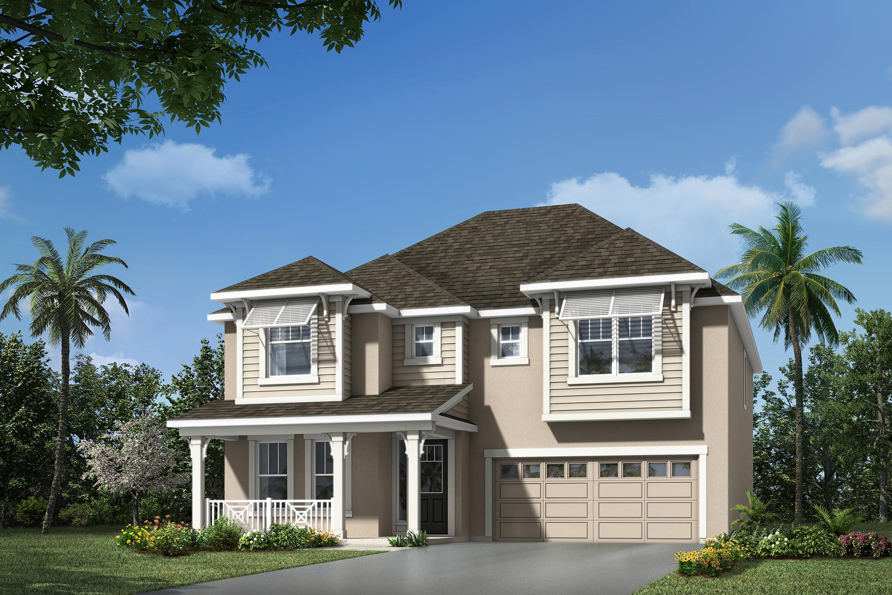Winthrop Plan Elevation Front at Meridian Parks in Orlando Florida by Mattamy Homes