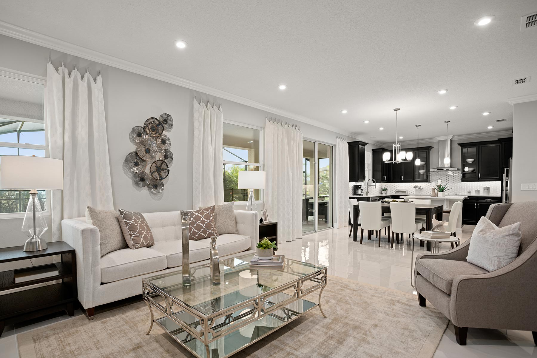 Winthrop Plan Greatroom at Tapestry in Kissimmee Florida by Mattamy Homes