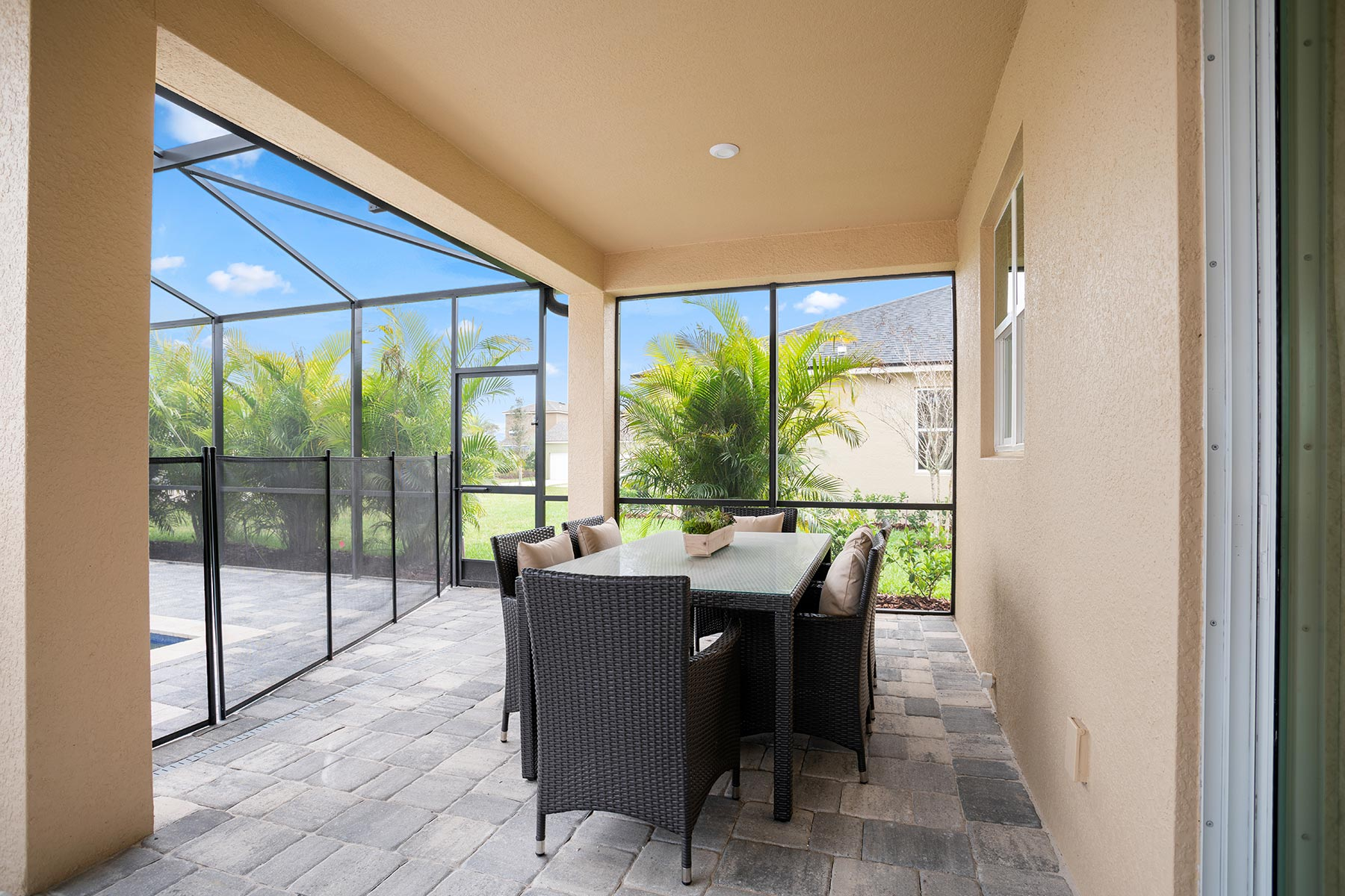 Winthrop Plan Patio at Tapestry in Kissimmee Florida by Mattamy Homes