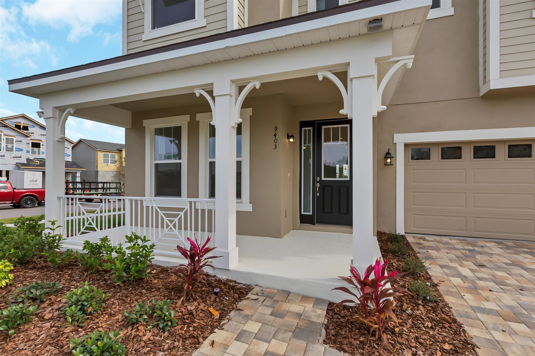 Winthrop Plan Front Porch at Meridian Parks in Orlando Florida by Mattamy Homes