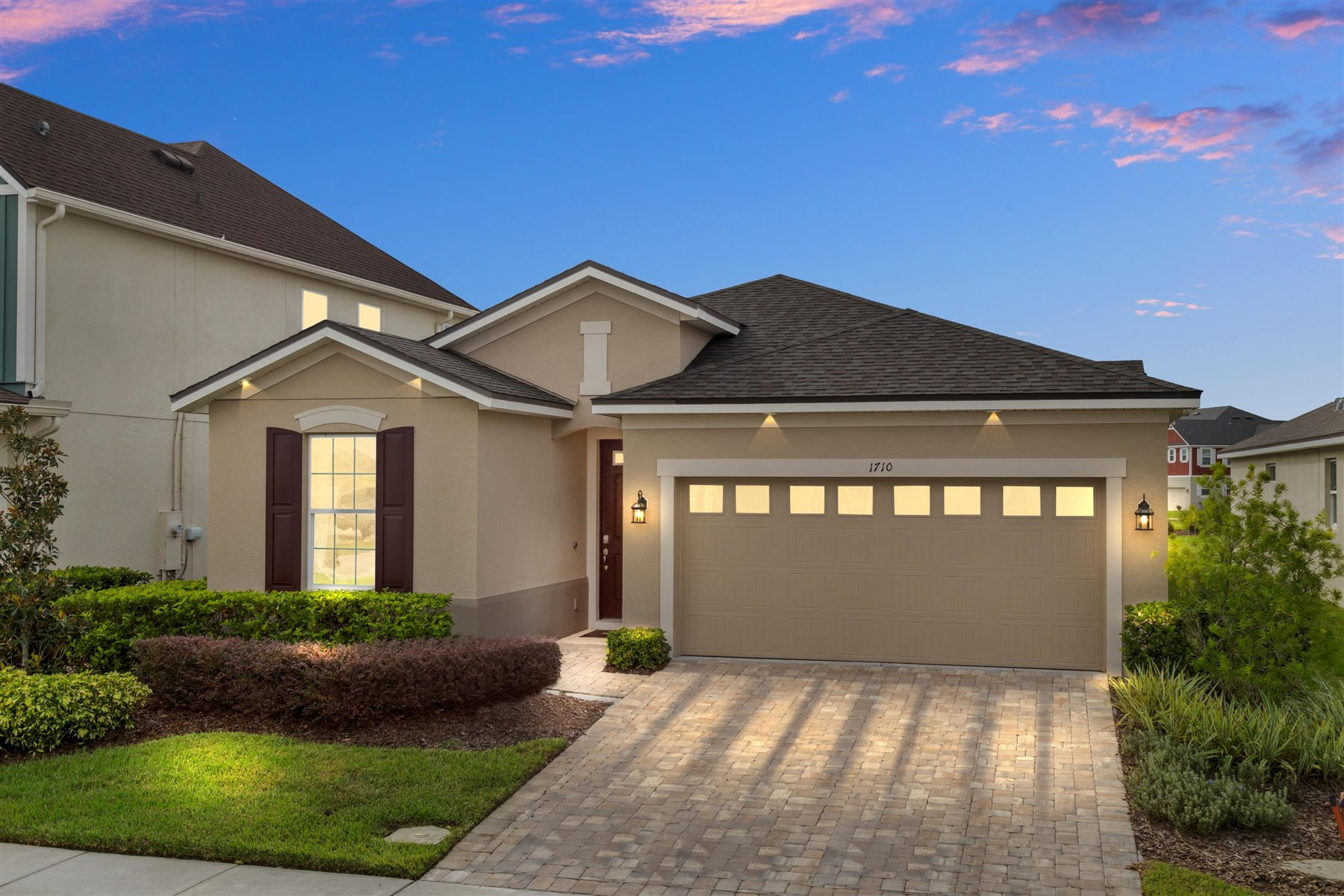 Avondale Plan Elevation Front at Tohoqua in Kissimmee Florida by Mattamy Homes