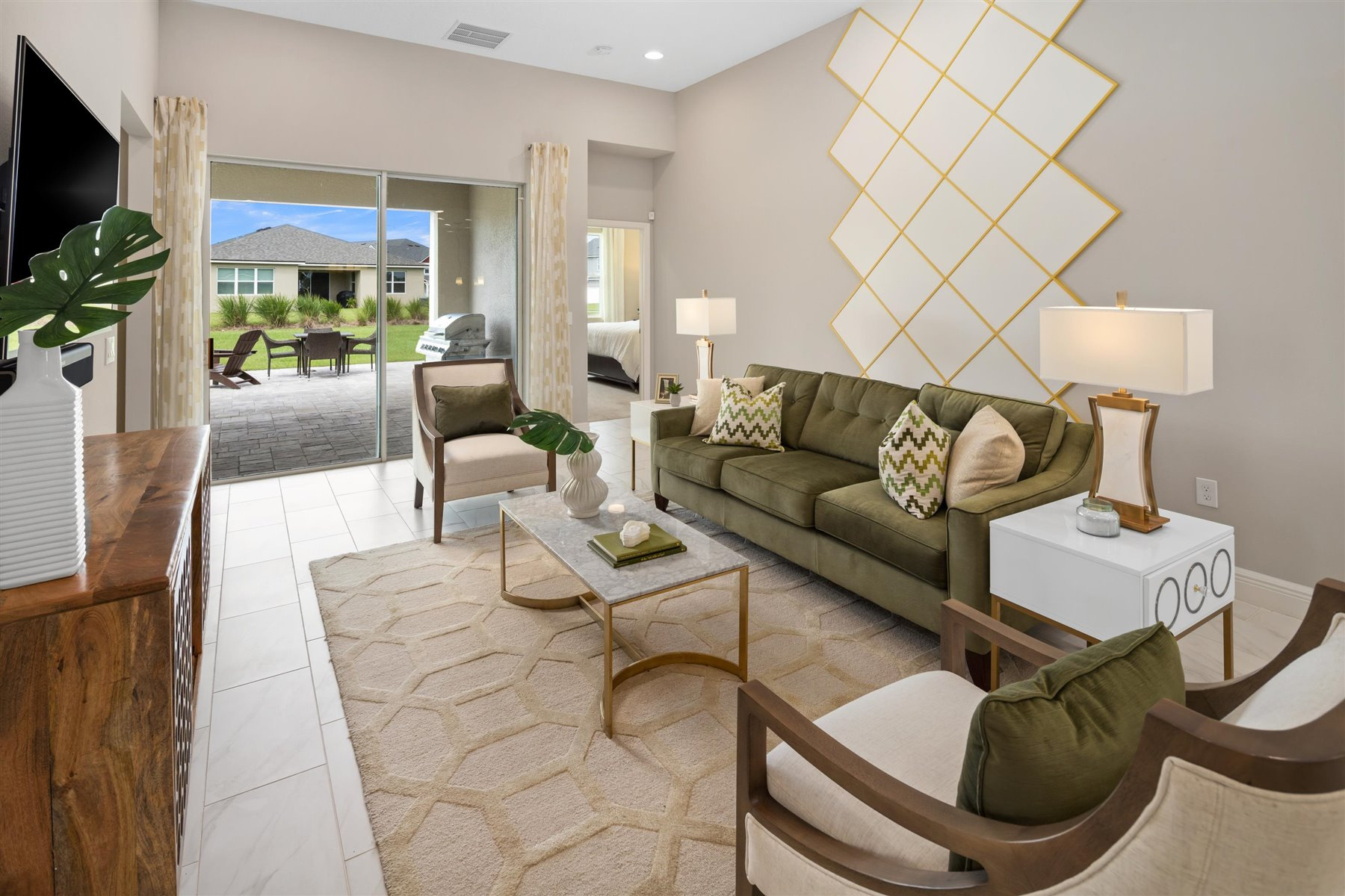 Avondale Plan Greatroom at Tohoqua in Kissimmee Florida by Mattamy Homes