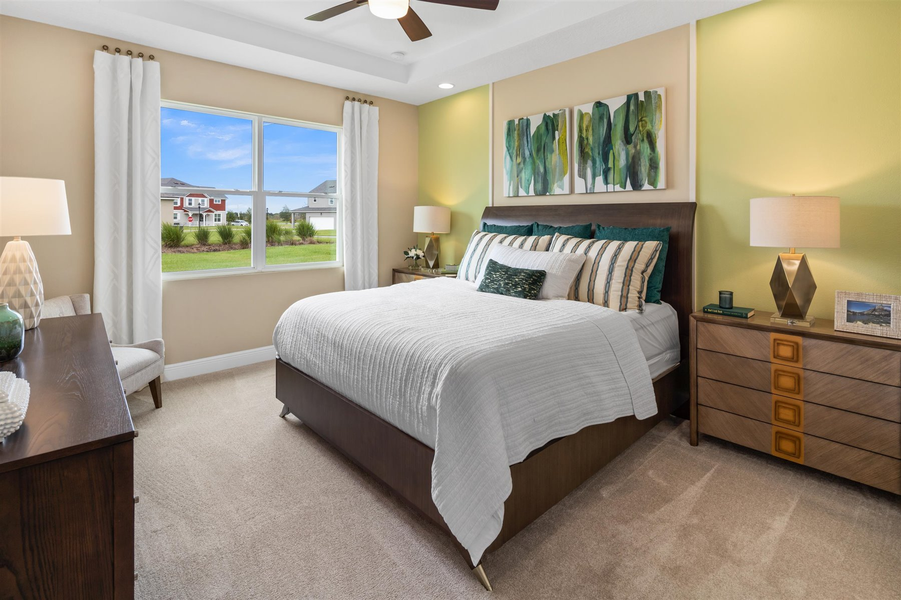 Avondale Plan Bedroom at Tohoqua in Kissimmee Florida by Mattamy Homes