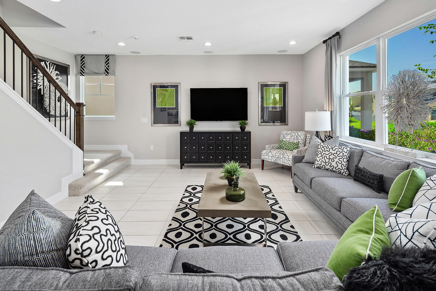 Campbell Plan Greatroom at Tohoqua in Kissimmee Florida by Mattamy Homes