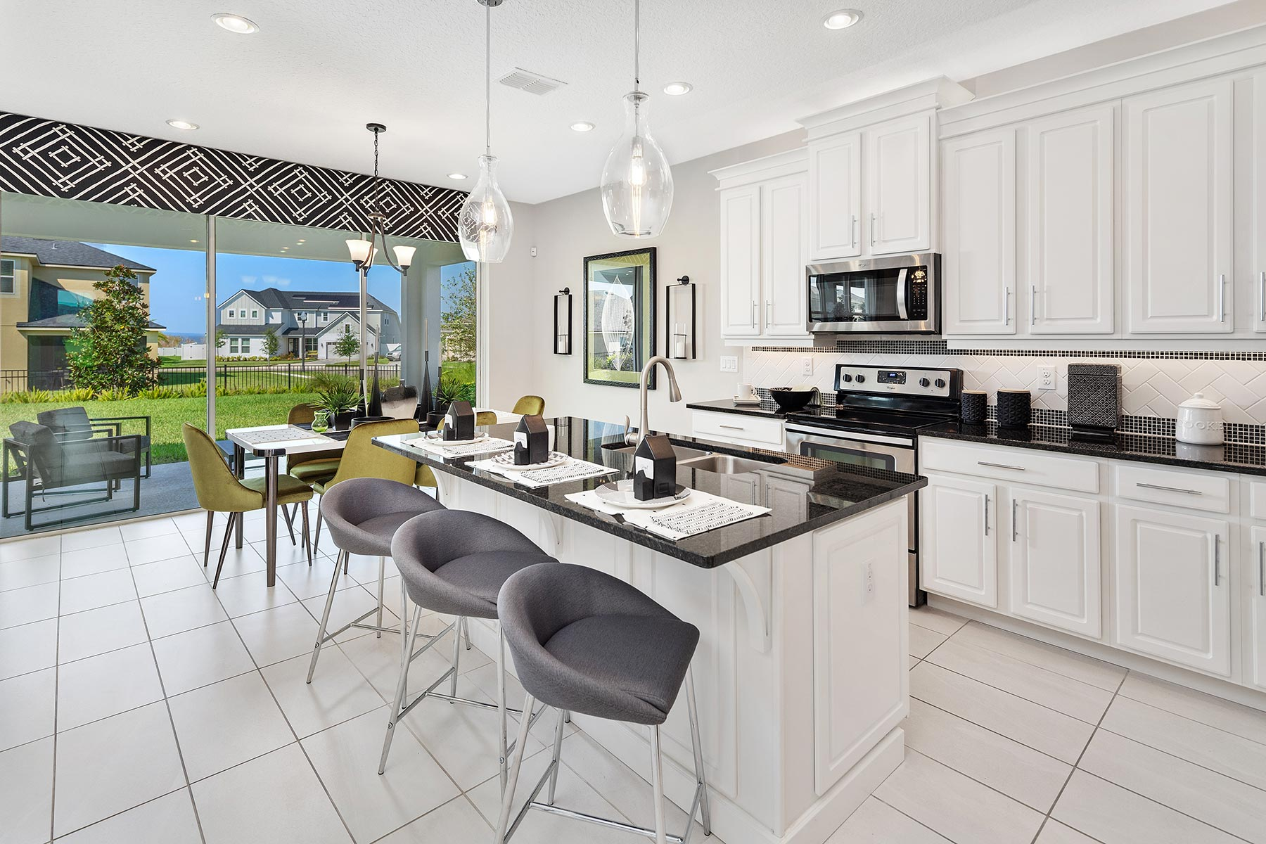 Campbell Plan Kitchen at Tohoqua in Kissimmee Florida by Mattamy Homes