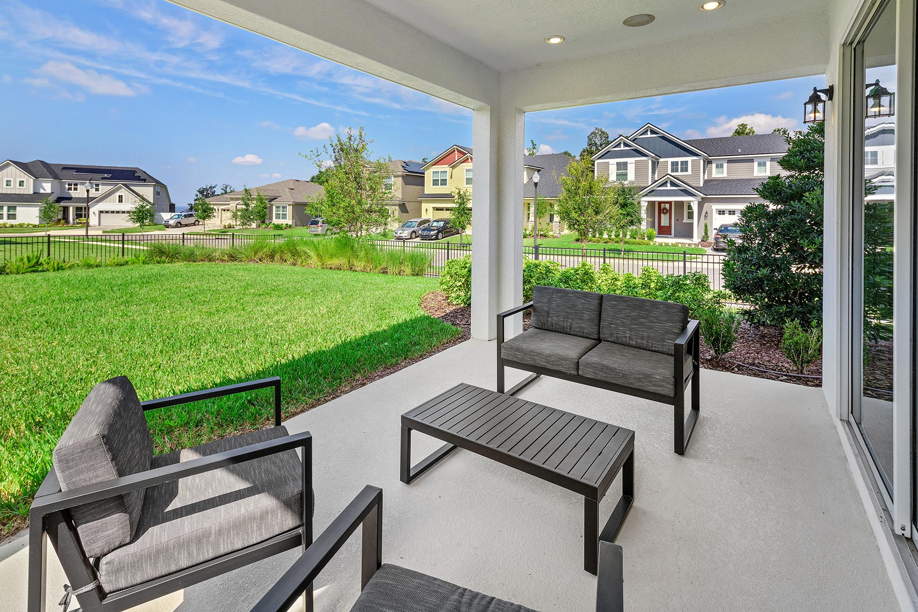 Campbell Plan Patio at Tohoqua in Kissimmee Florida by Mattamy Homes