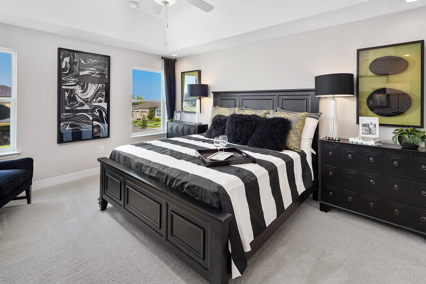 Campbell Plan Bedroom at Tohoqua in Kissimmee Florida by Mattamy Homes