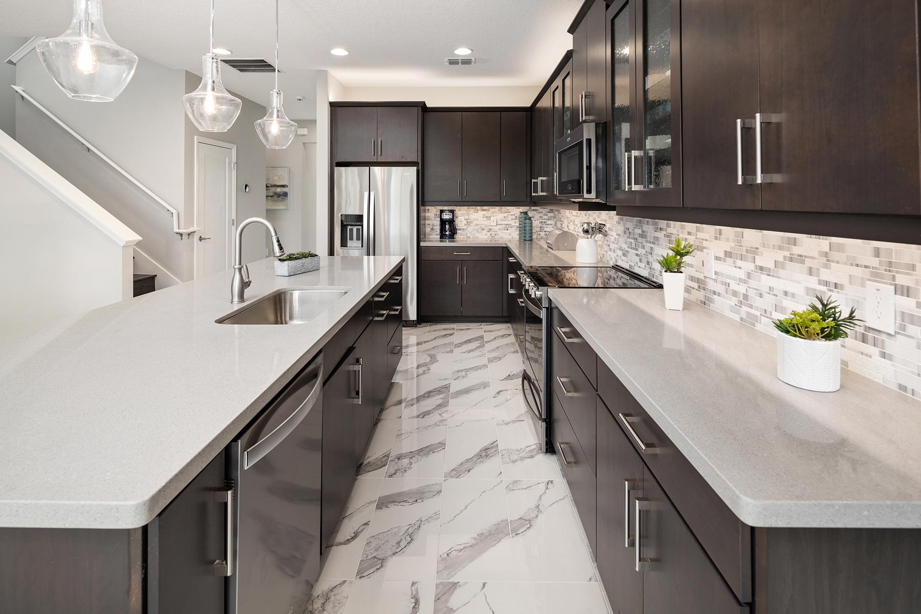 Canon Plan Kitchen at Tohoqua in Kissimmee Florida by Mattamy Homes