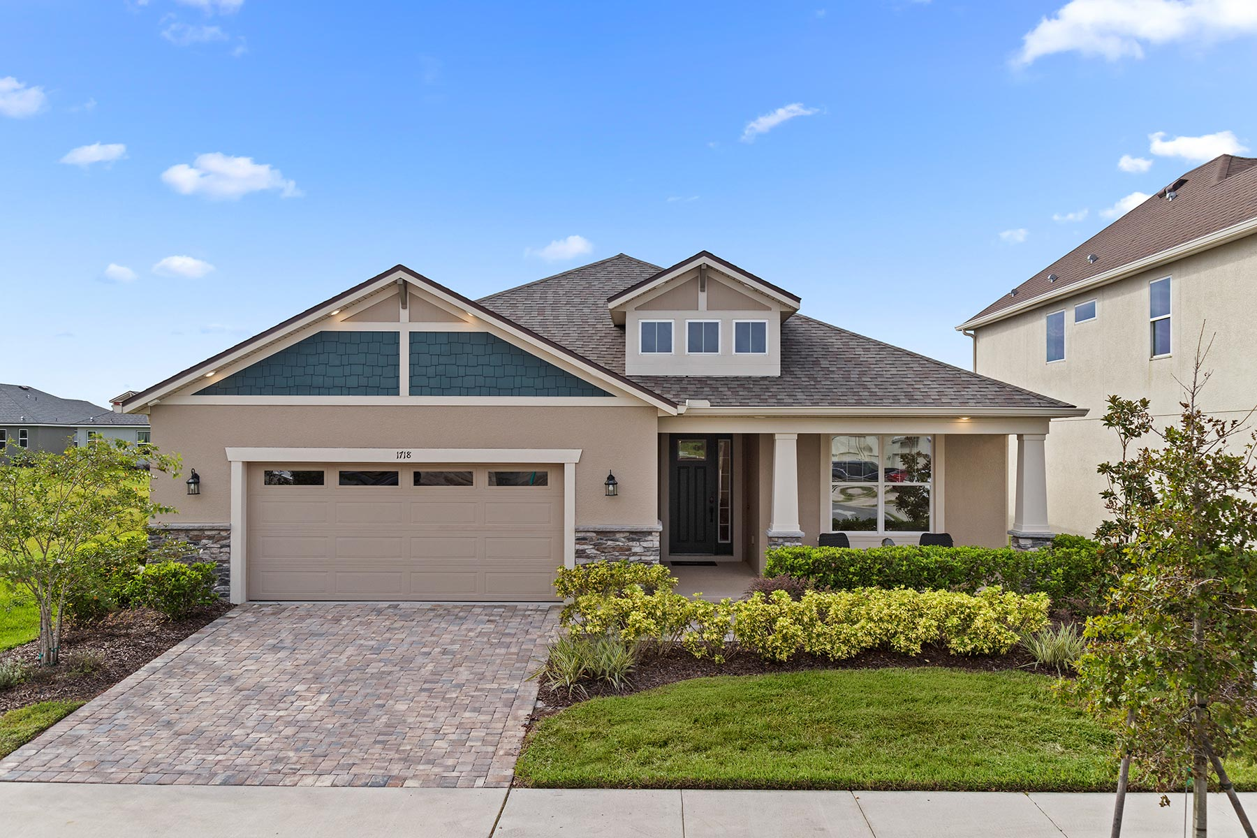 Glendale Plan Elevation Front at Tohoqua in Kissimmee Florida by Mattamy Homes